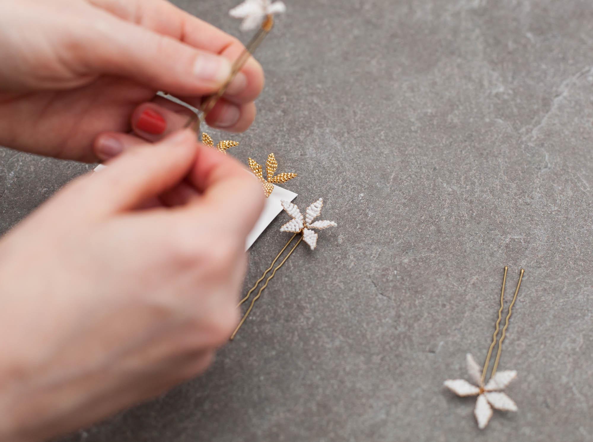 Blackbirdspearl-hamburg-bridal-hair-pins-flower-star-spray-white-and-gold-beaded