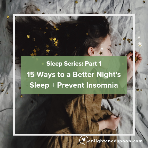 15 ways to a better night's sleep, Prevent insomnia