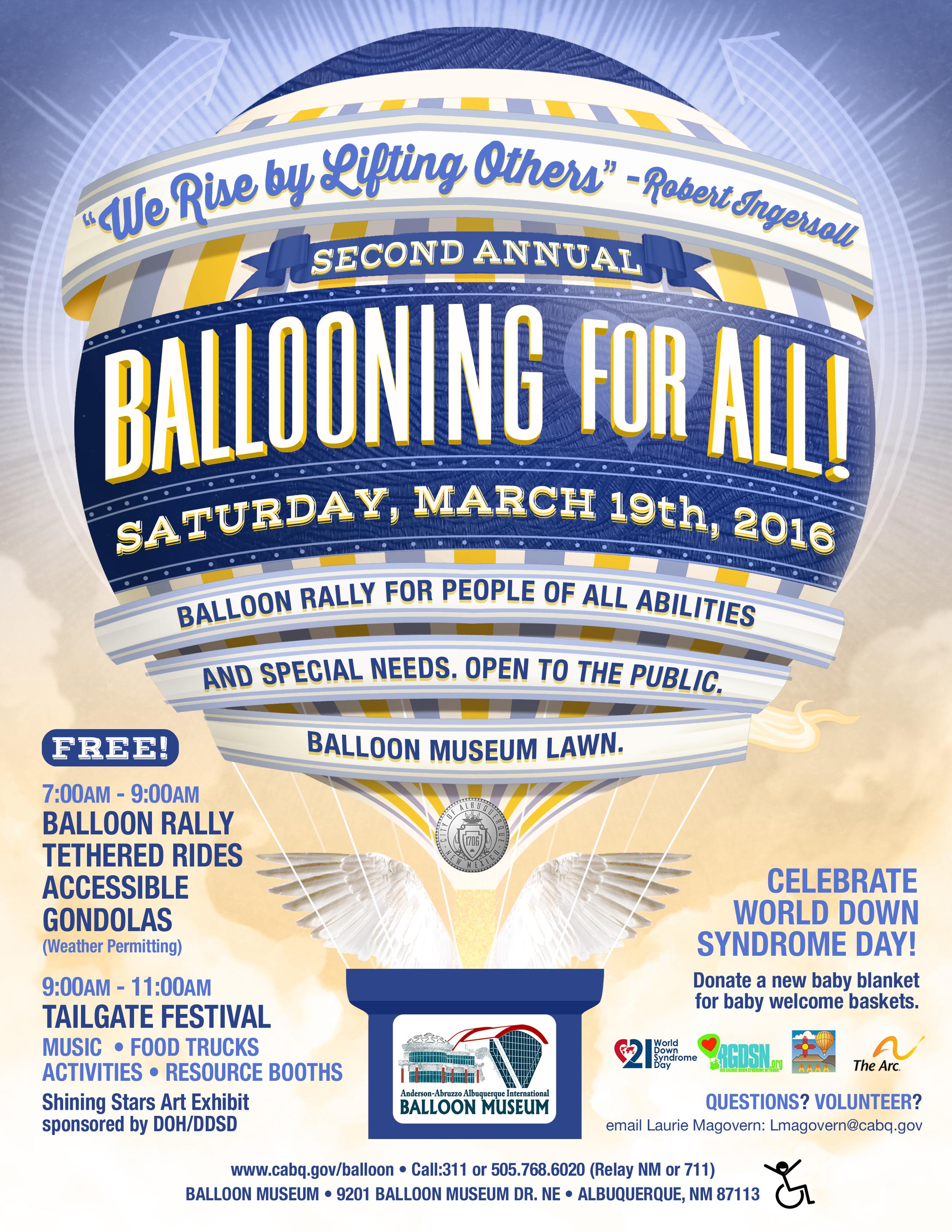 Ballooning For All! flier