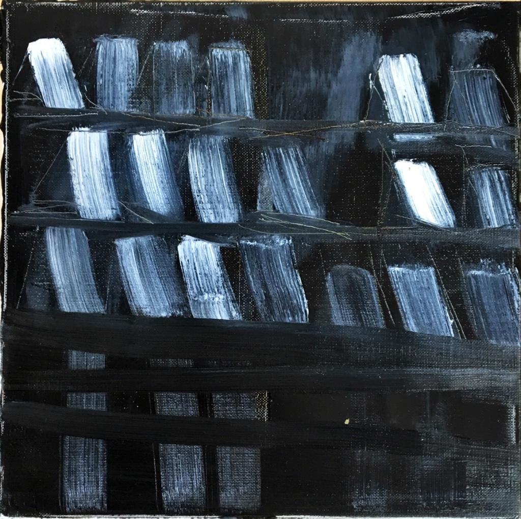 CARTES 1, 2016, huile sur carton toilé, 40x40 cm