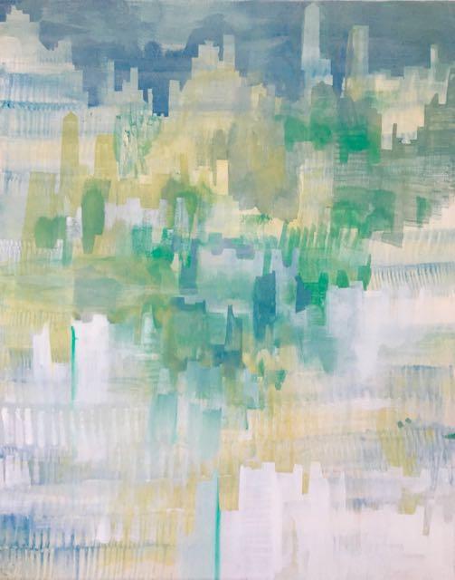 VILLE 5, 2017, acrylique sur toile, 116x89cm