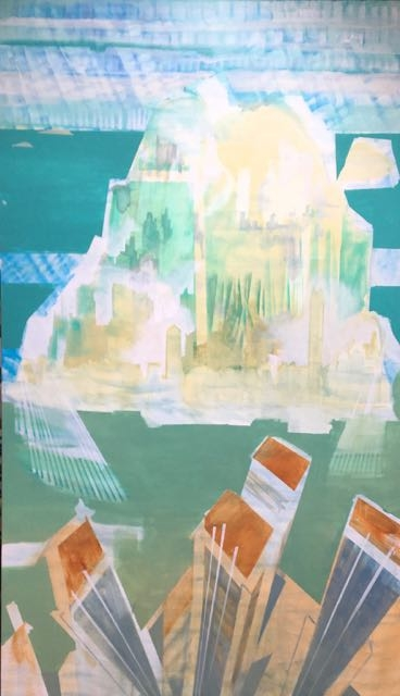 VILLE 1, 2017, acrylique sur toile, 195x114cm