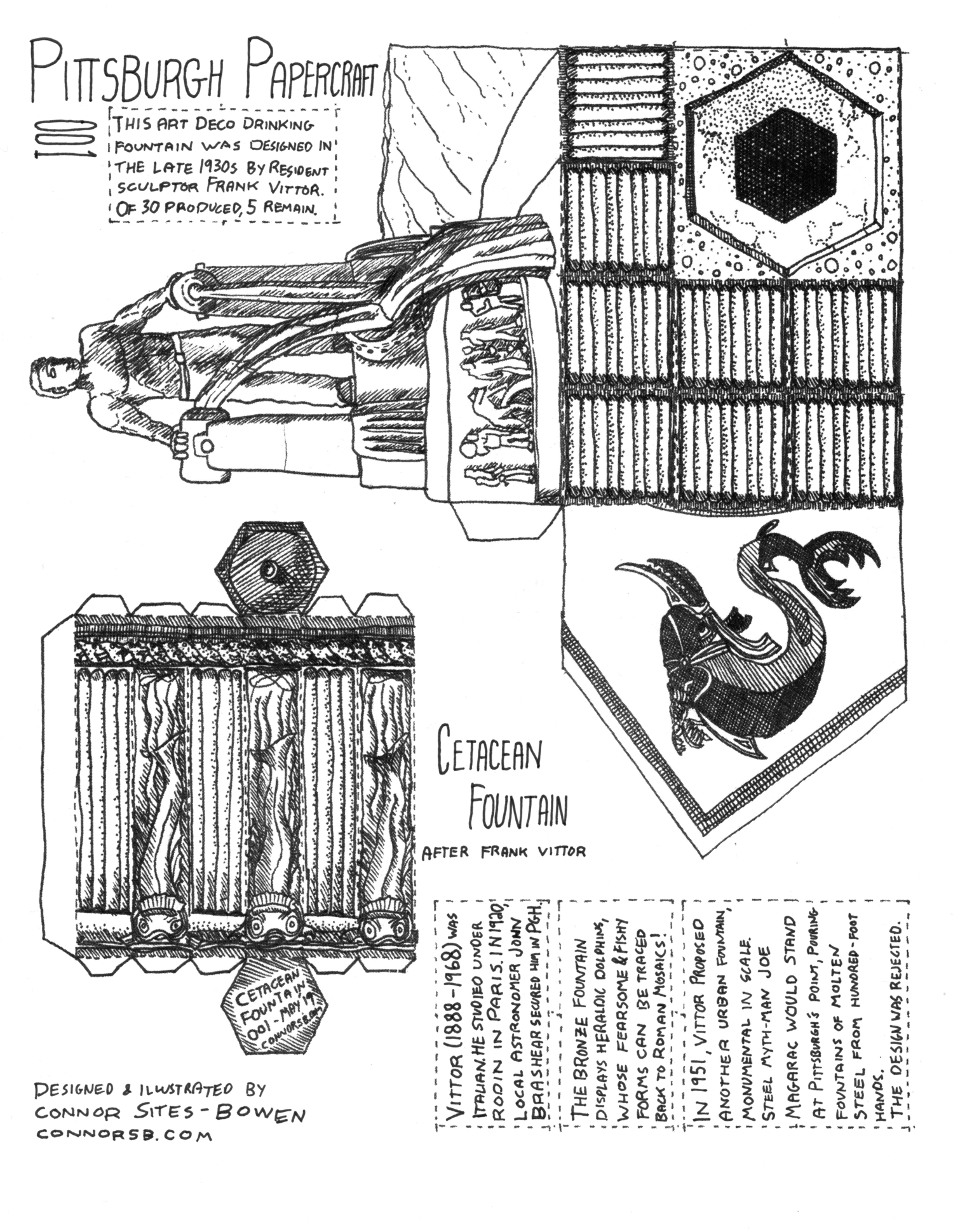 (PDF) Pittsburgh Papercraft 001: Cetacean Fountain — Connor Sites-Bowen