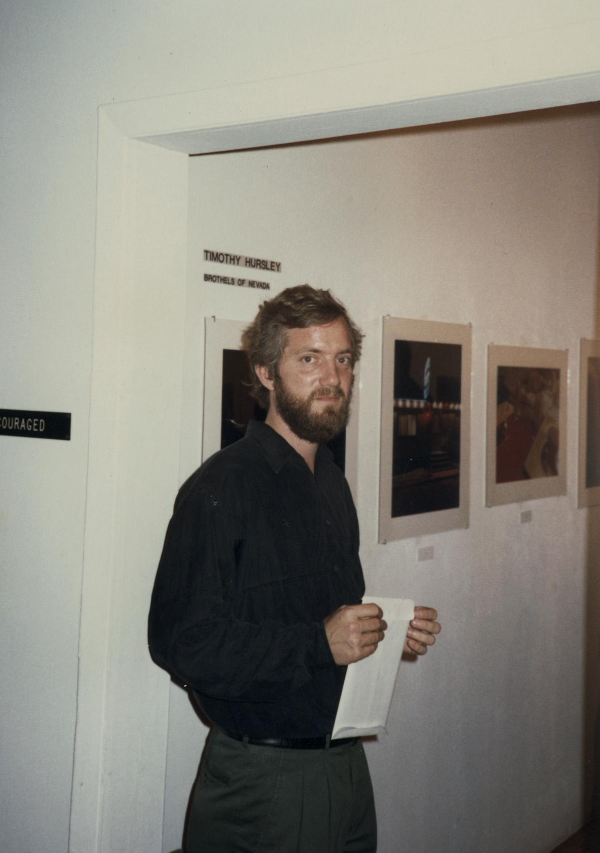 Hursley at OK Harris Gallery with Ivan Karp 1990