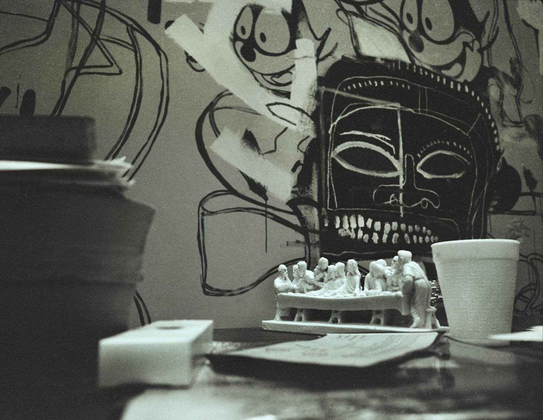 Basquiat with Last Supper Warhol Studio