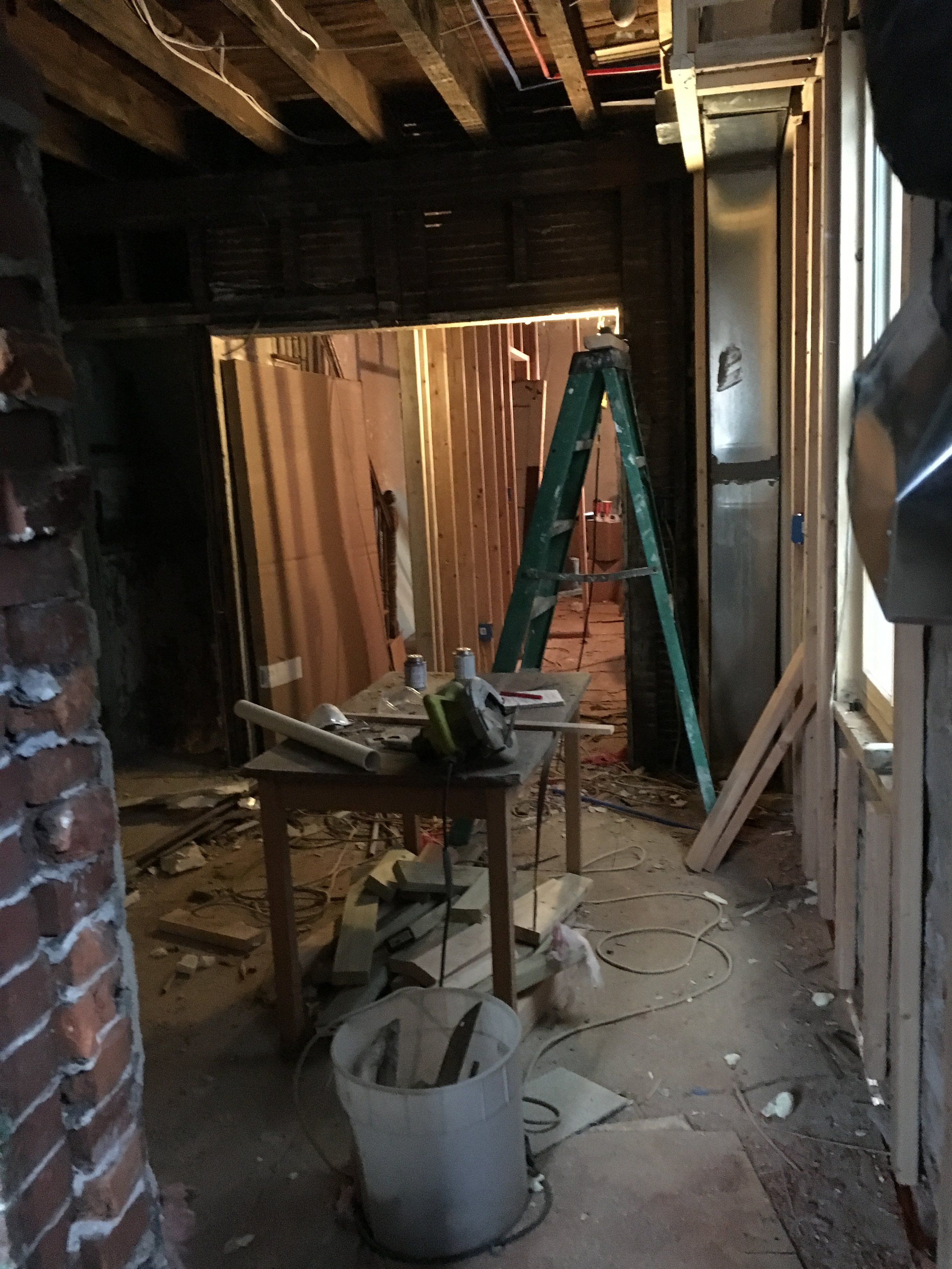 View of Kitchen through the first floor rooms. 12/19/2016