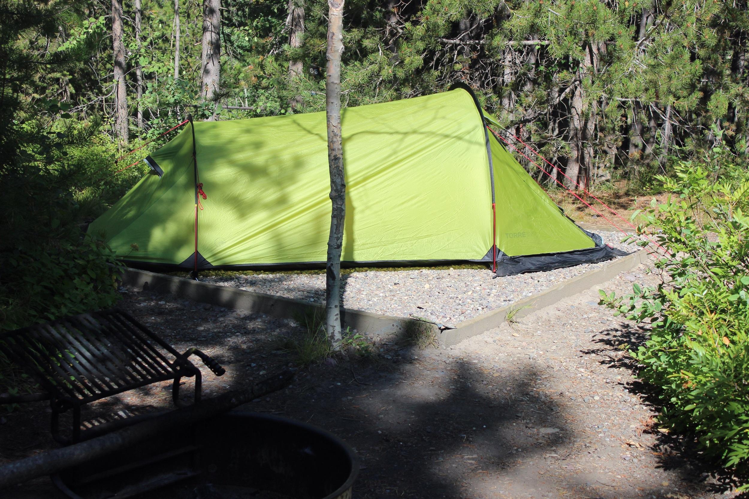 Camp set up, Grand Teton national park, Wyoming