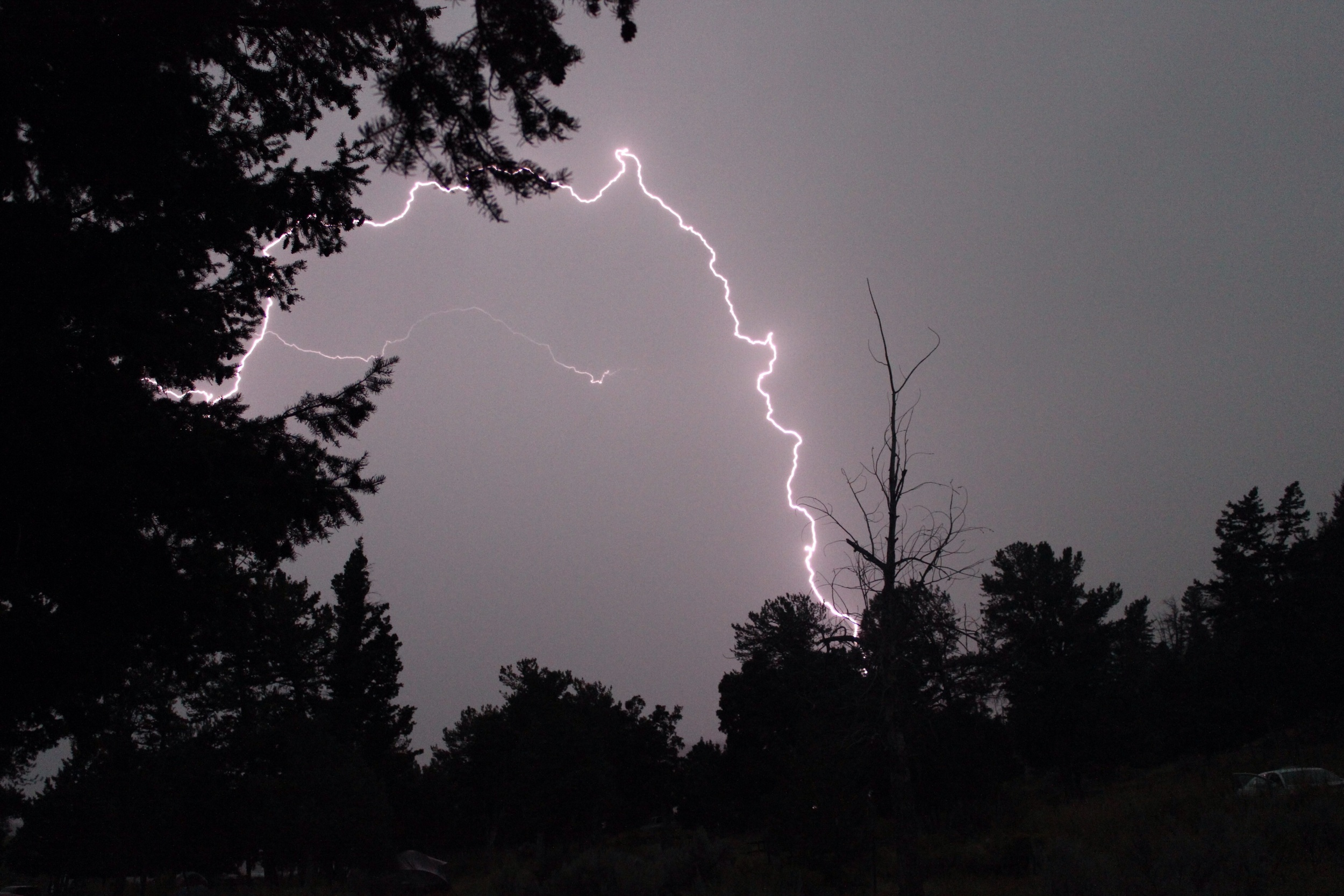 Lightning obviously, Yellowstone national park