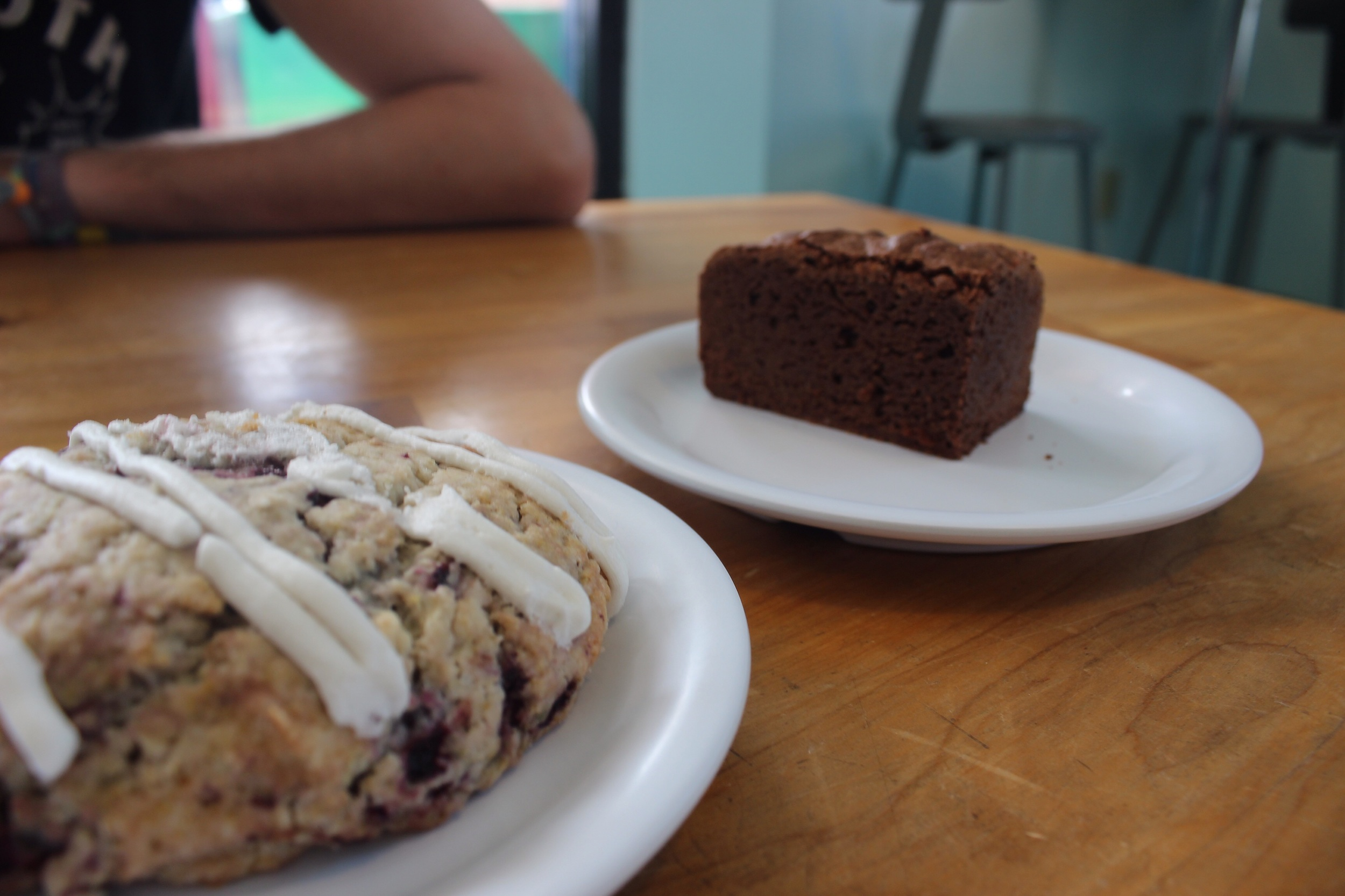 Cherry chocolate scone and brownie 100% gluten free