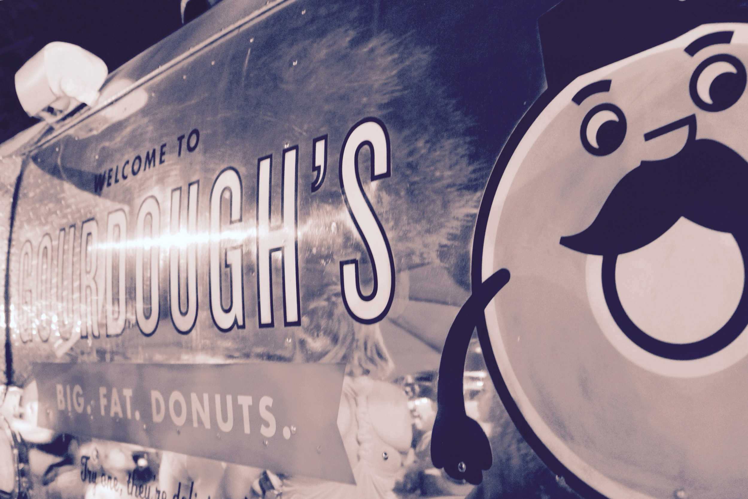 Waiting in line at Gourdough's
