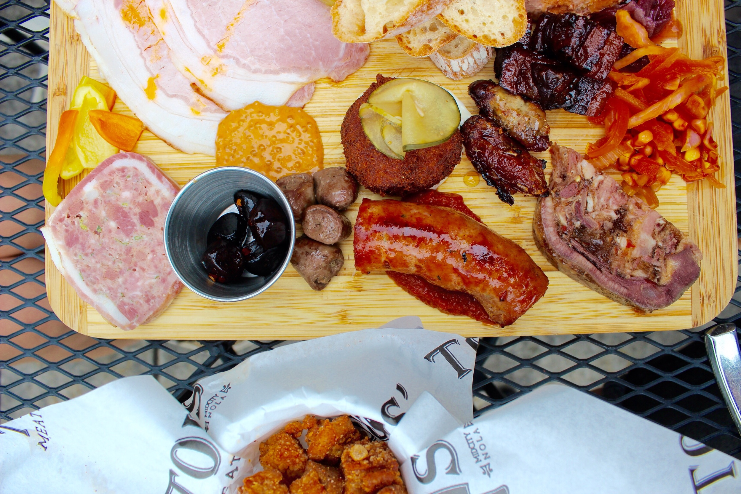 Meatery board at Toup's