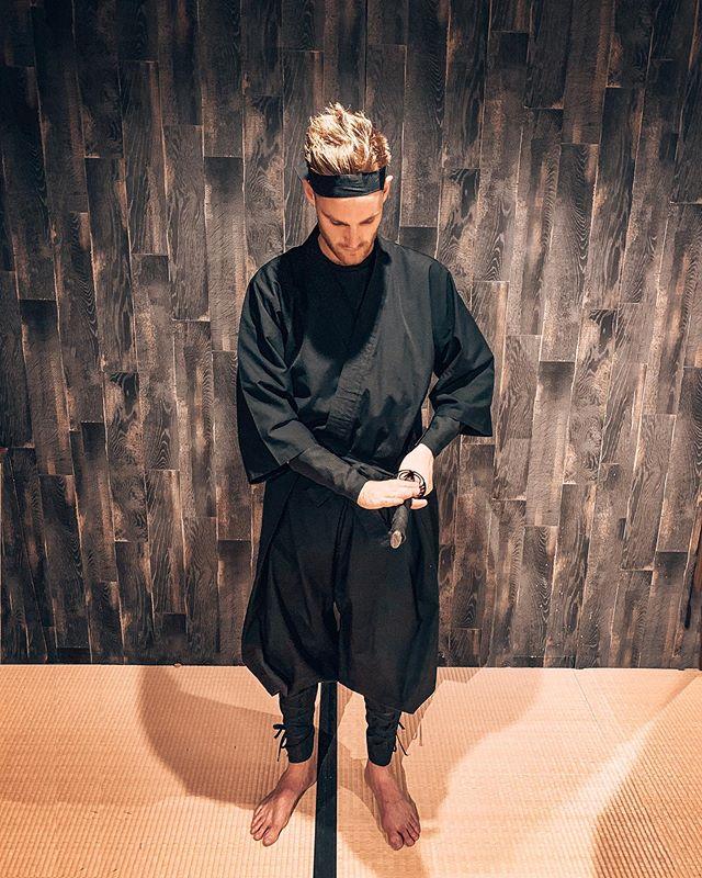 Finding my inner zen at Ninja training in Kyoto 🥢⚔️ #ninja #kyoto