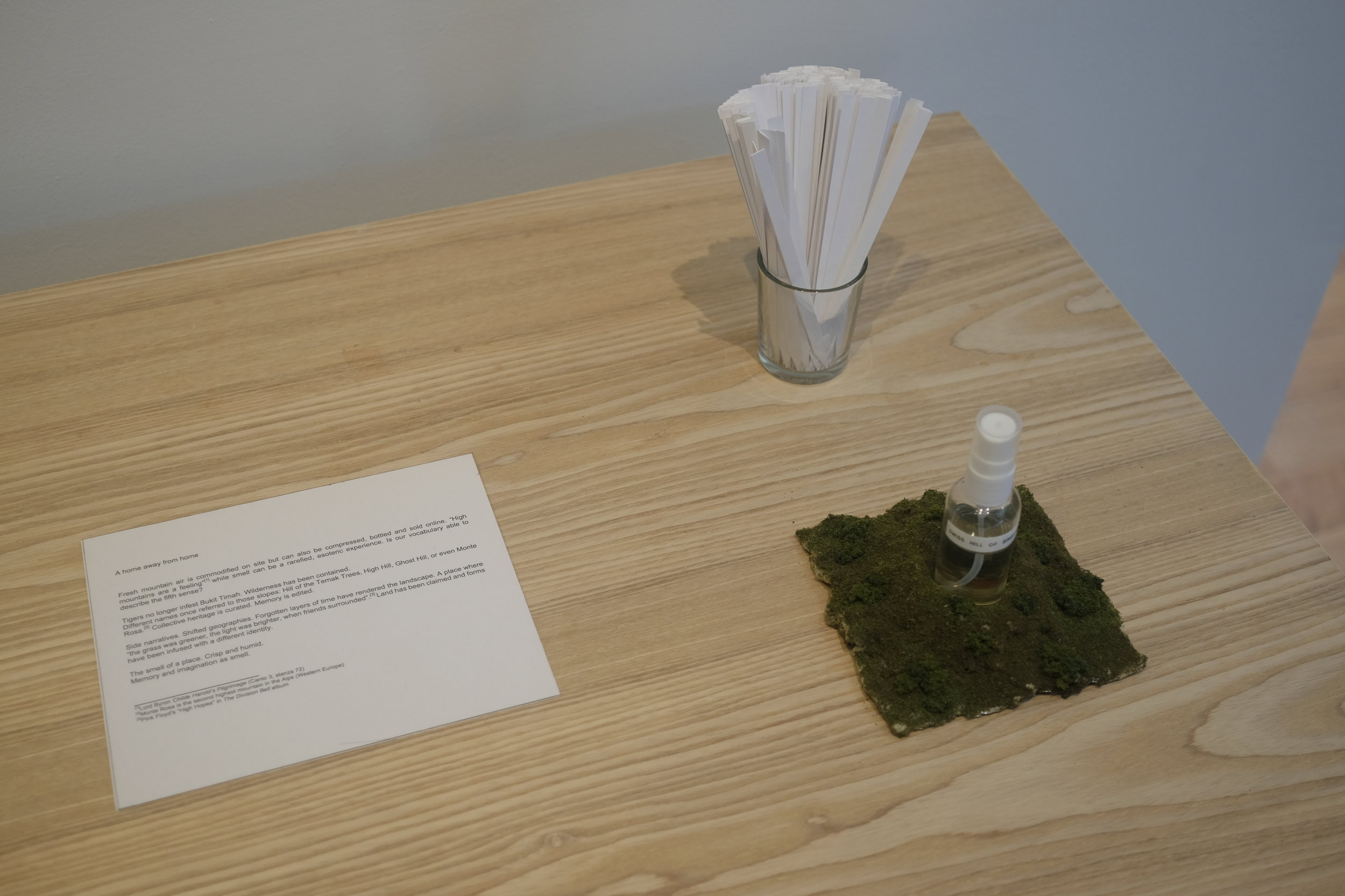 The scent and the text accompanying the display