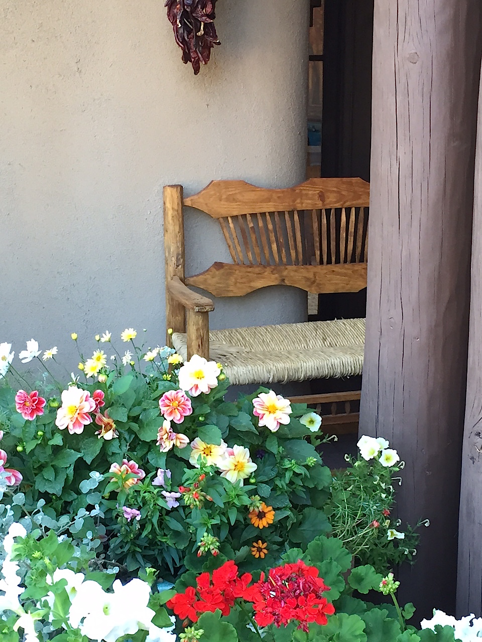 In addition to the breathtaking views, the courtyard was surrounded by the most fragrant flowers.