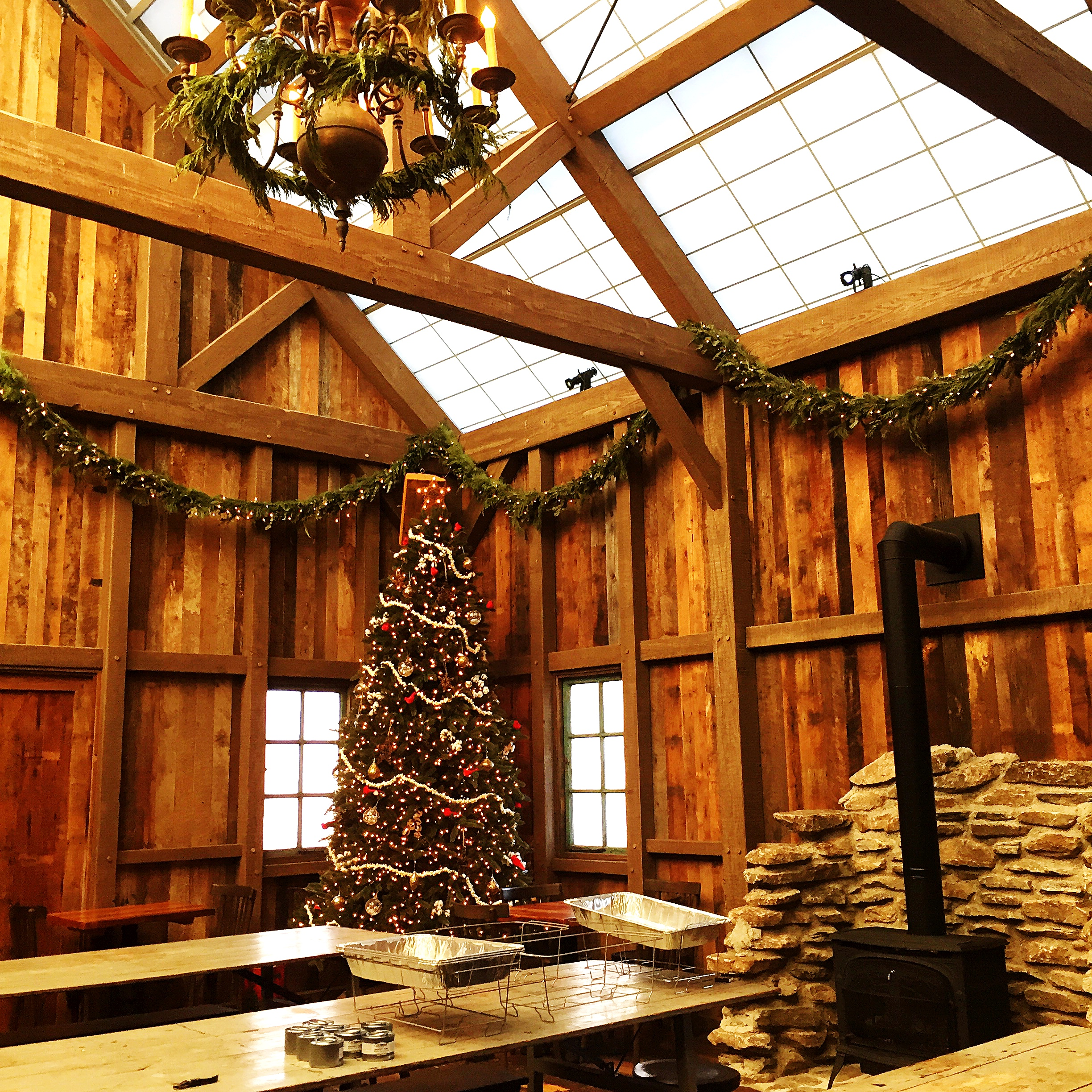 The barn for the holidays.