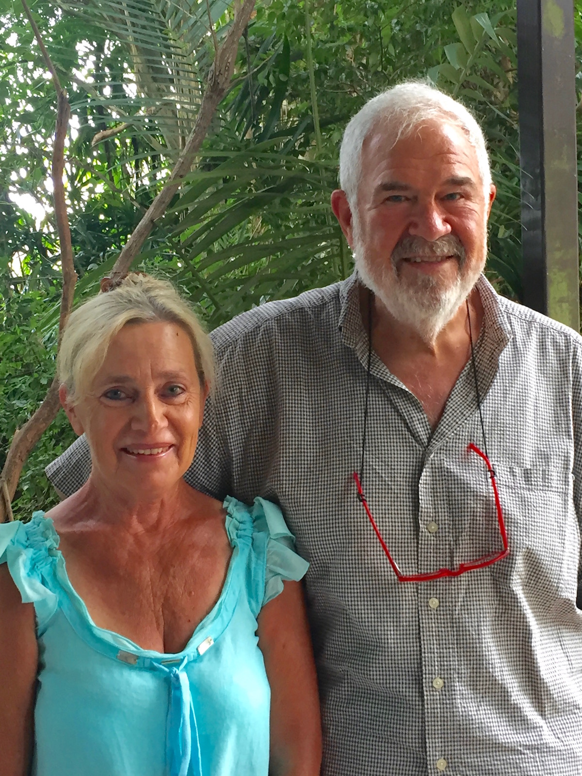Judy Viola e io a Bangalow dove sono nati i moderni Finger Lime