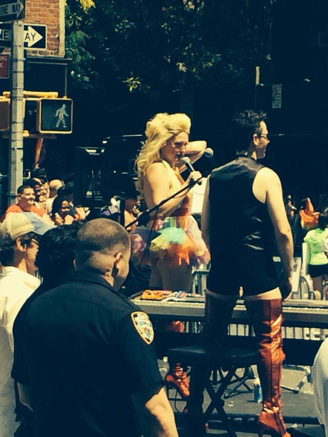Gay Pride 2014 with  Brian Nash .©Joe Mode.