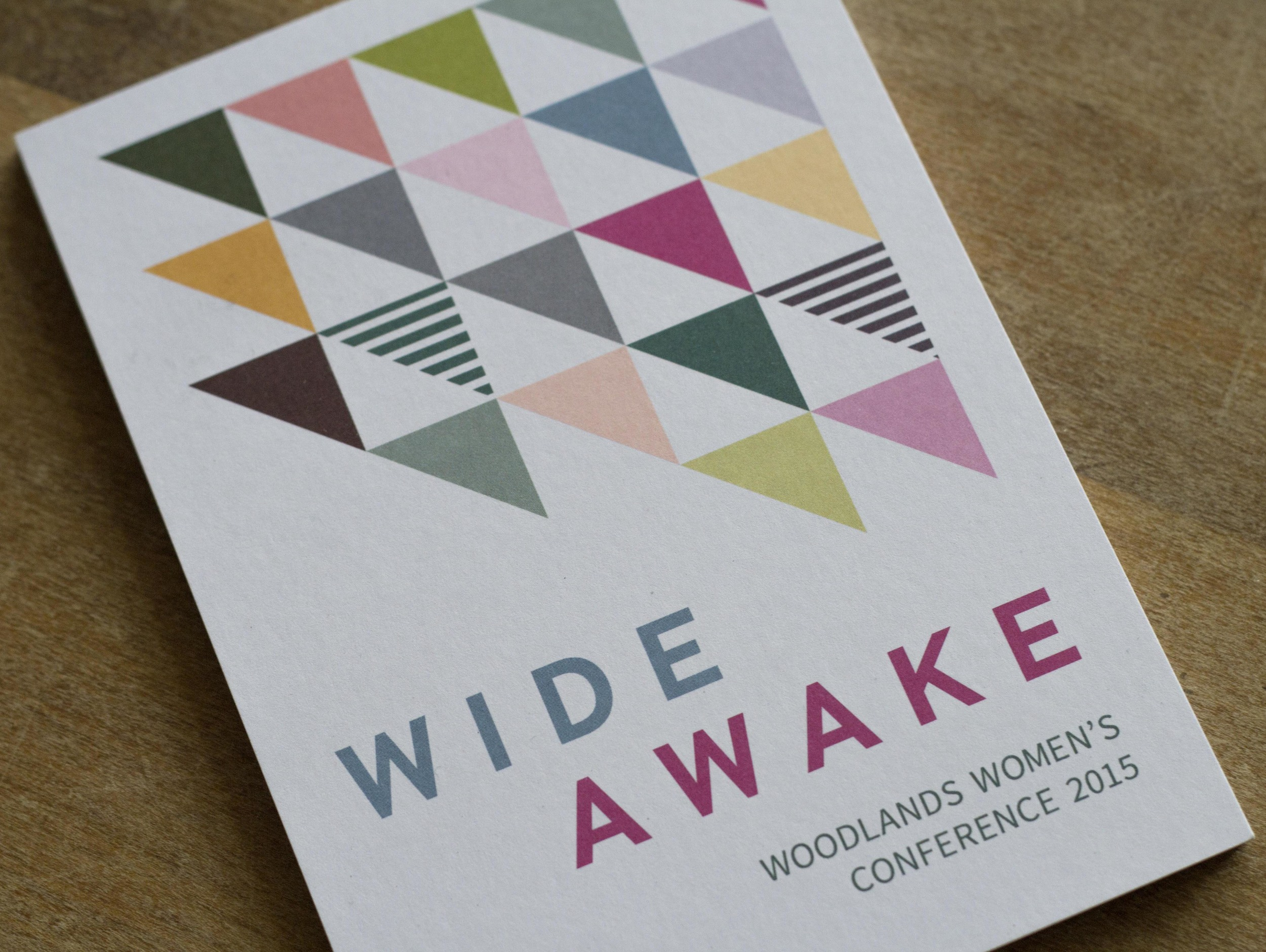 Printed-flyers-for-Women's-Conference-Close-up