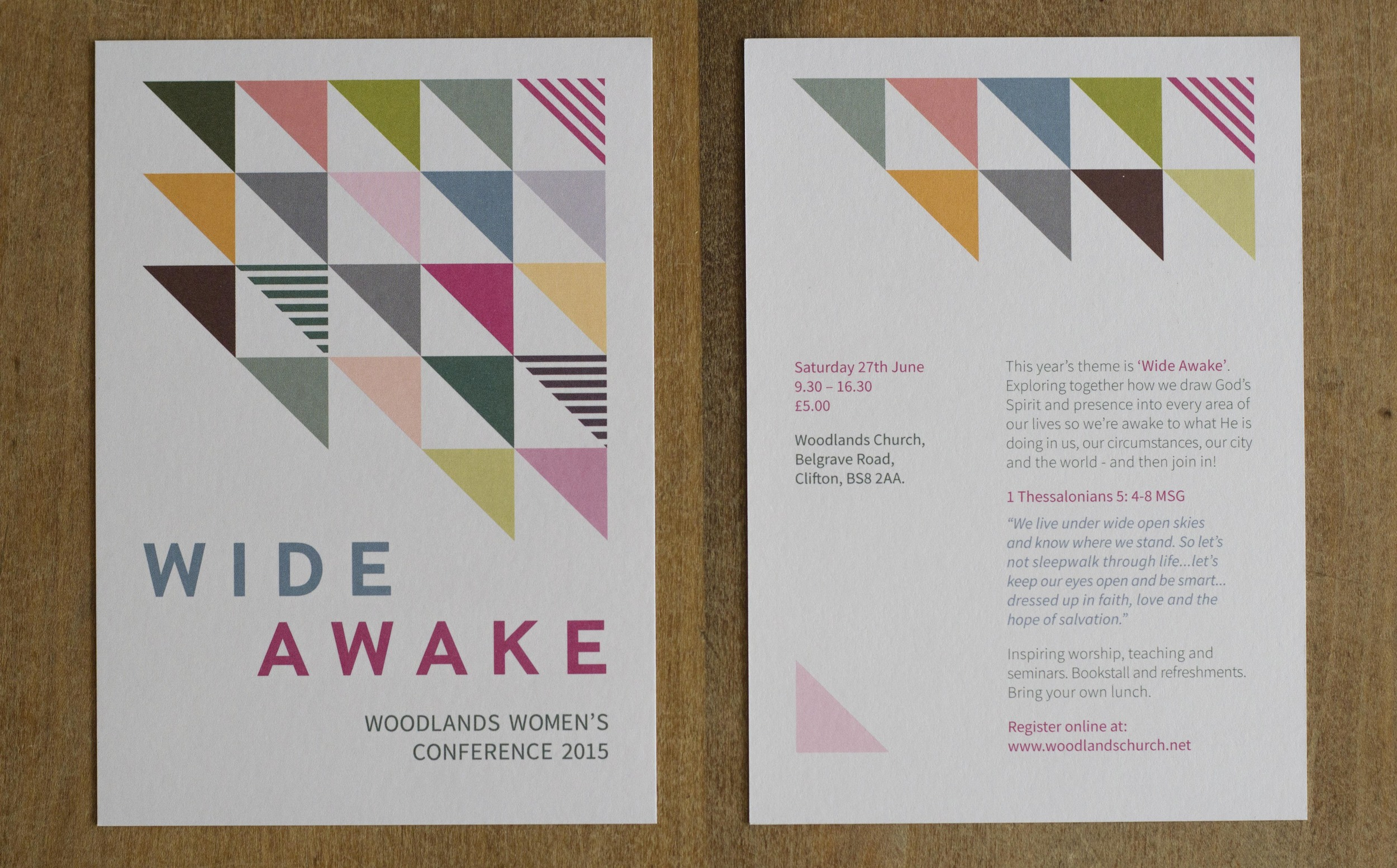 Printed-flyers-for-Women's-Conference-Front-Back