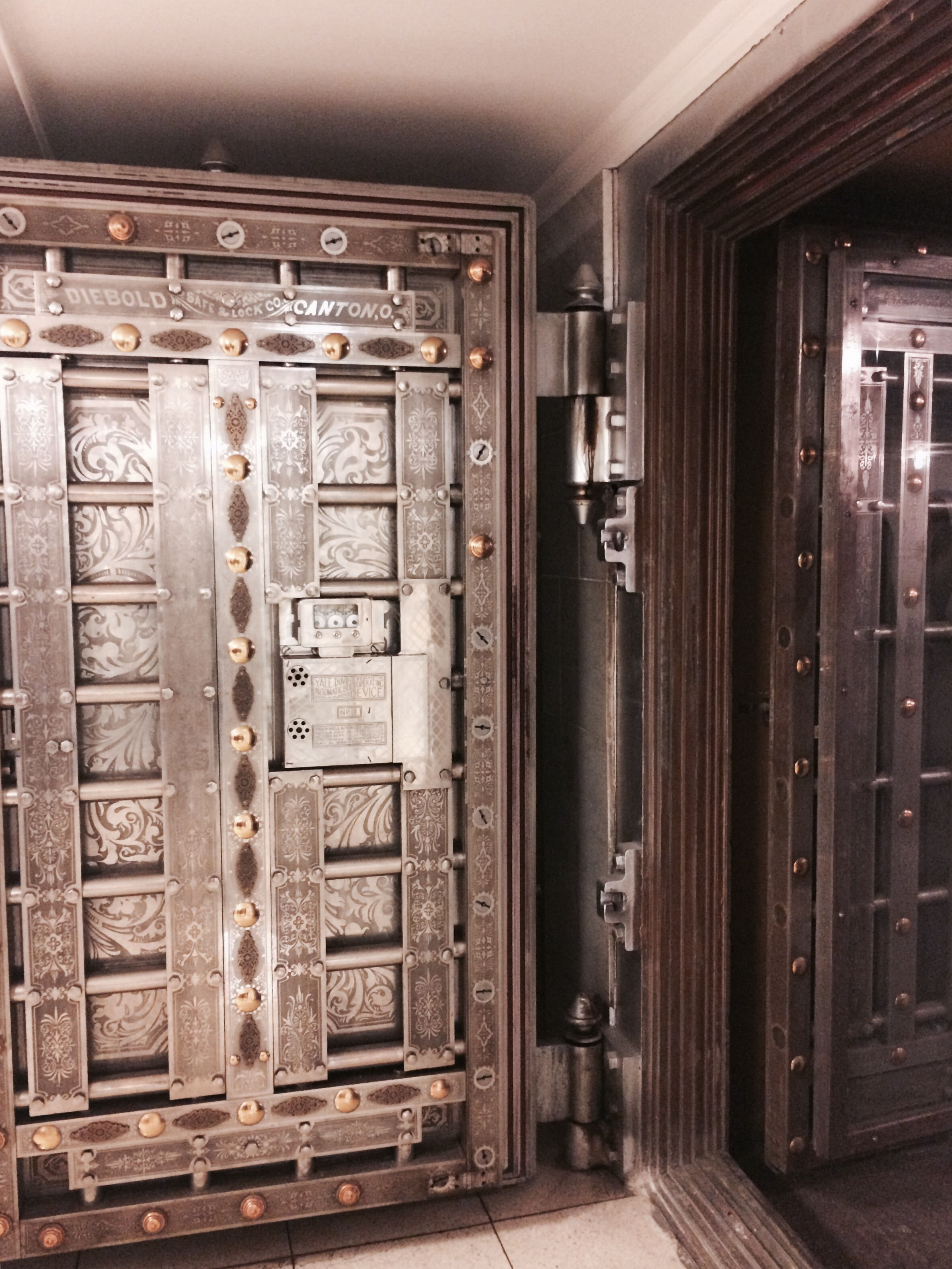 Vault in the basement.