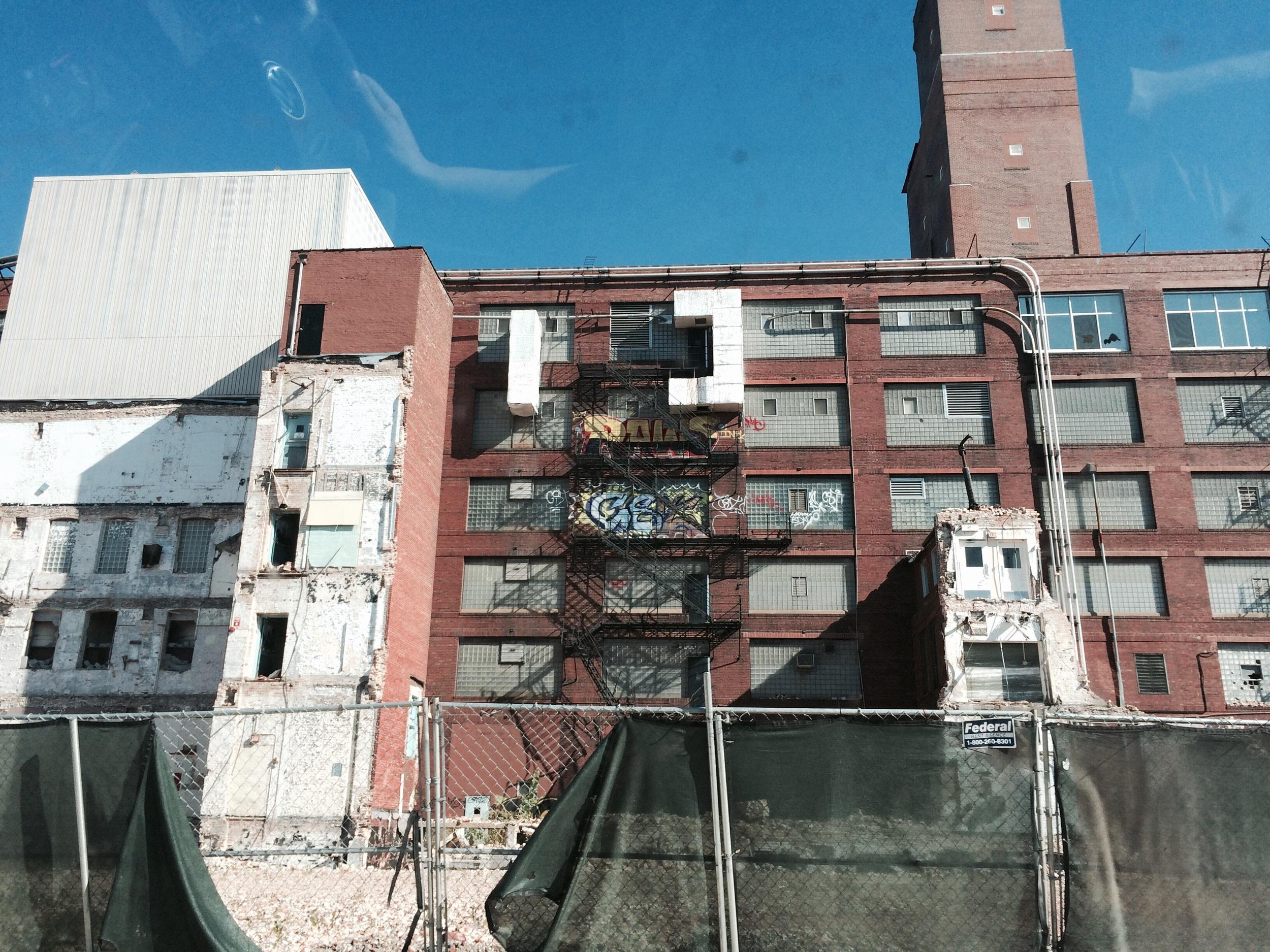 Bridgeport demolition.