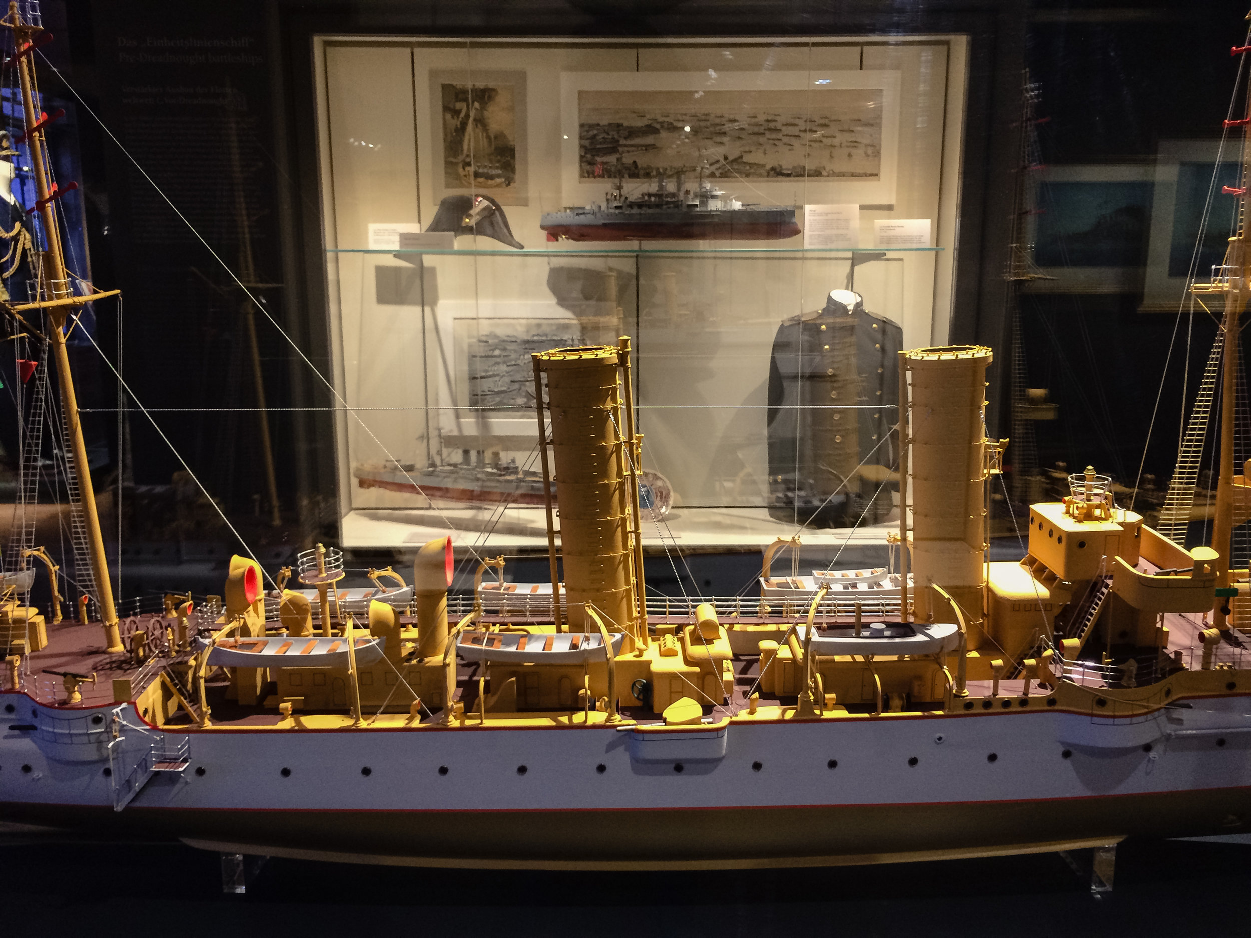Historic models with supporting collections materials