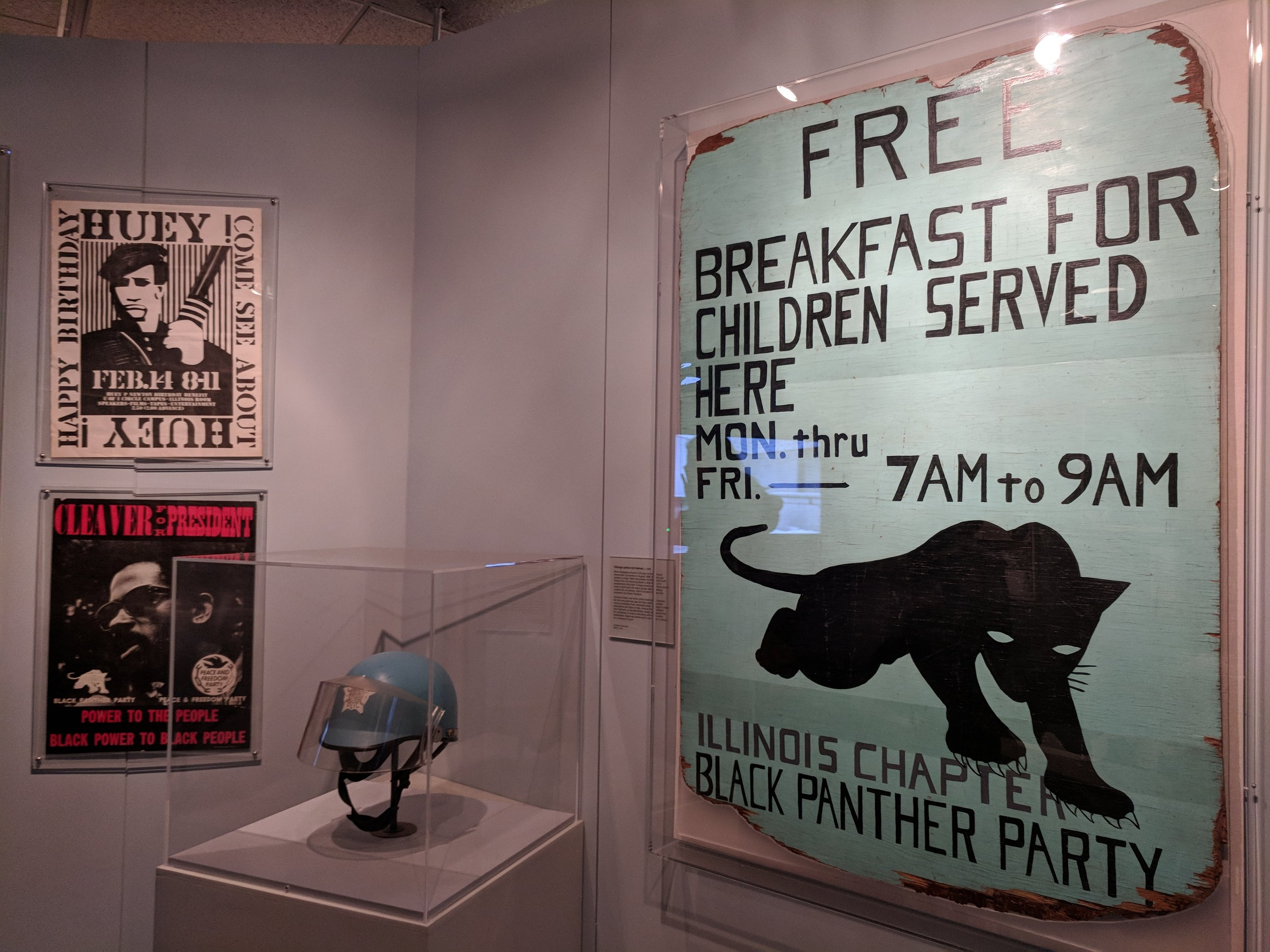 Some of the collections on display in the exhibit  Freedom, Resistance, and the Journey Toward Equality