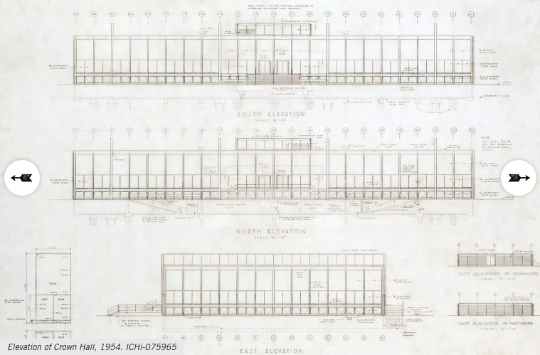 Screenshot of a sample archival document from the architectural drawings and records collection