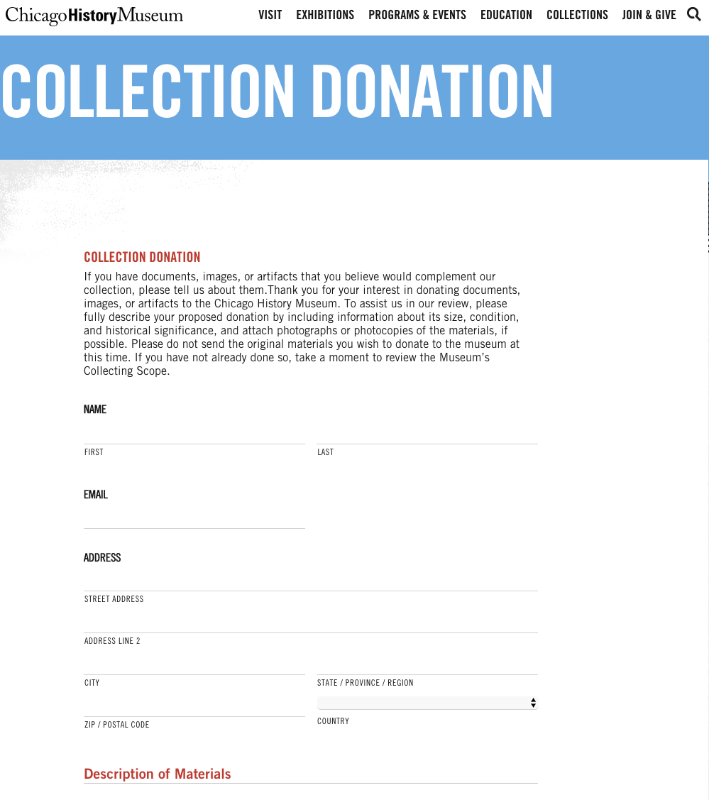 Potential donors can facilitate the process through the online form