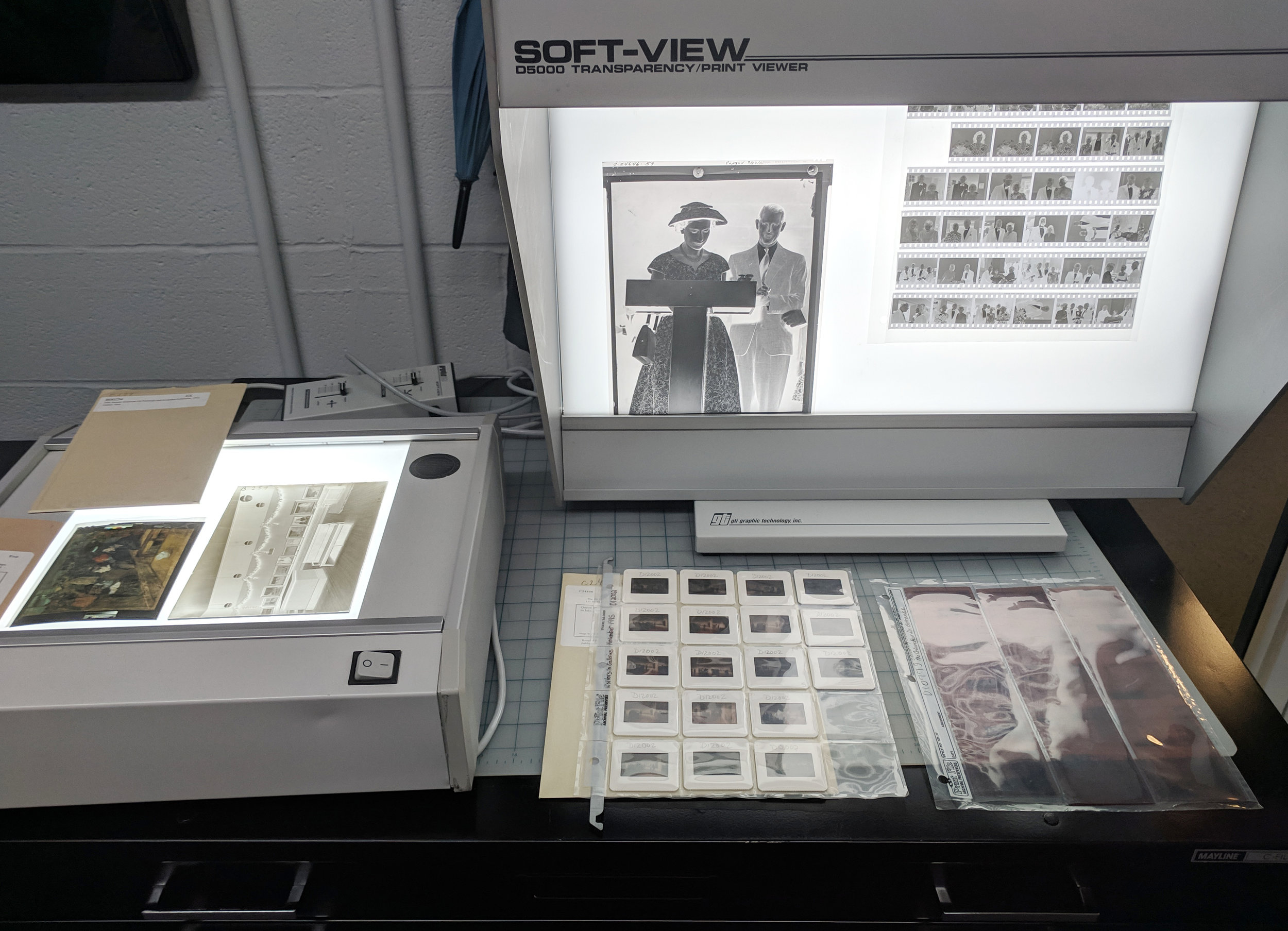 Original archival negatives and transparencies