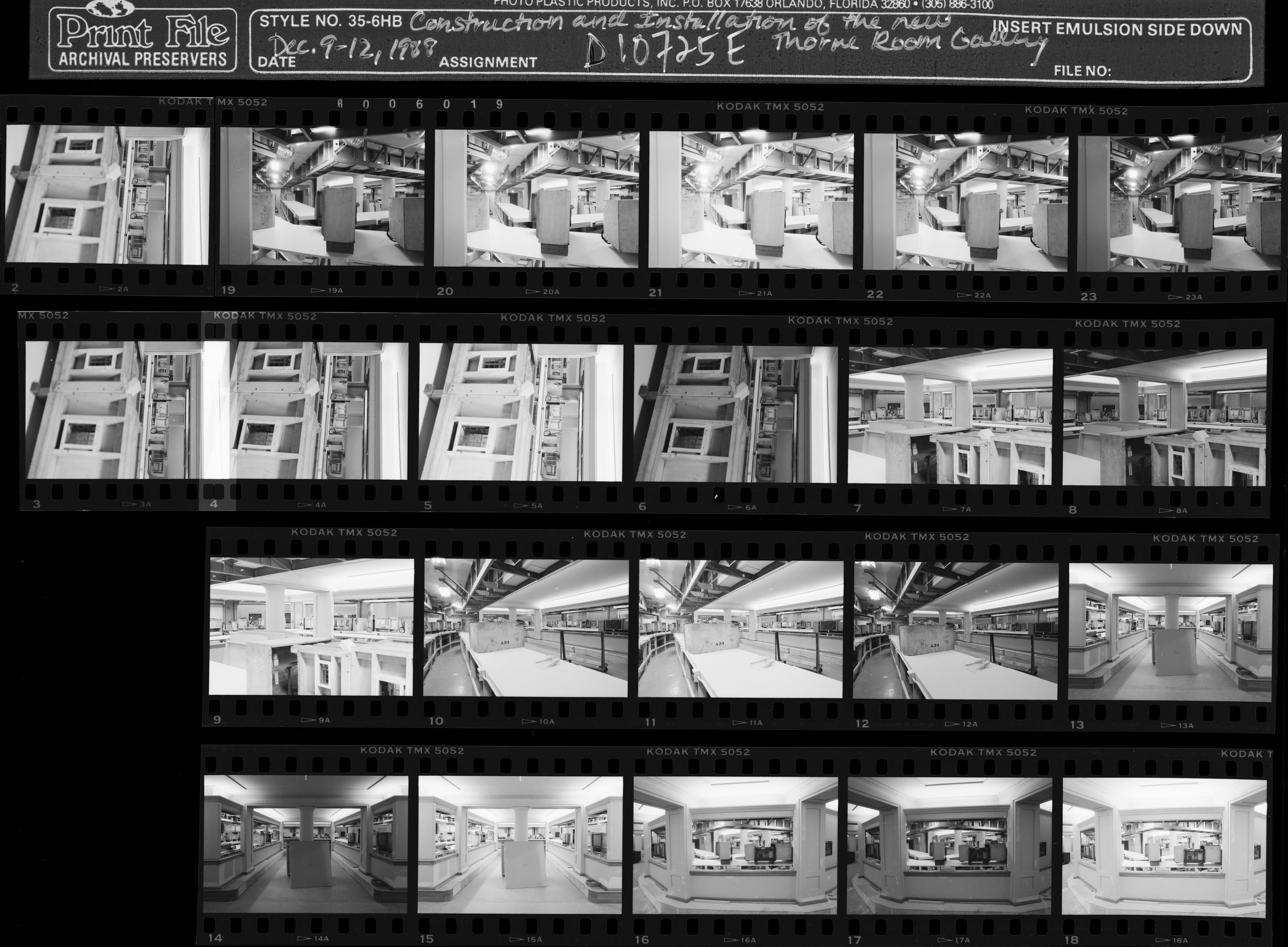 Digital contact sheet of one installation of some of the Thorne Miniature Rooms