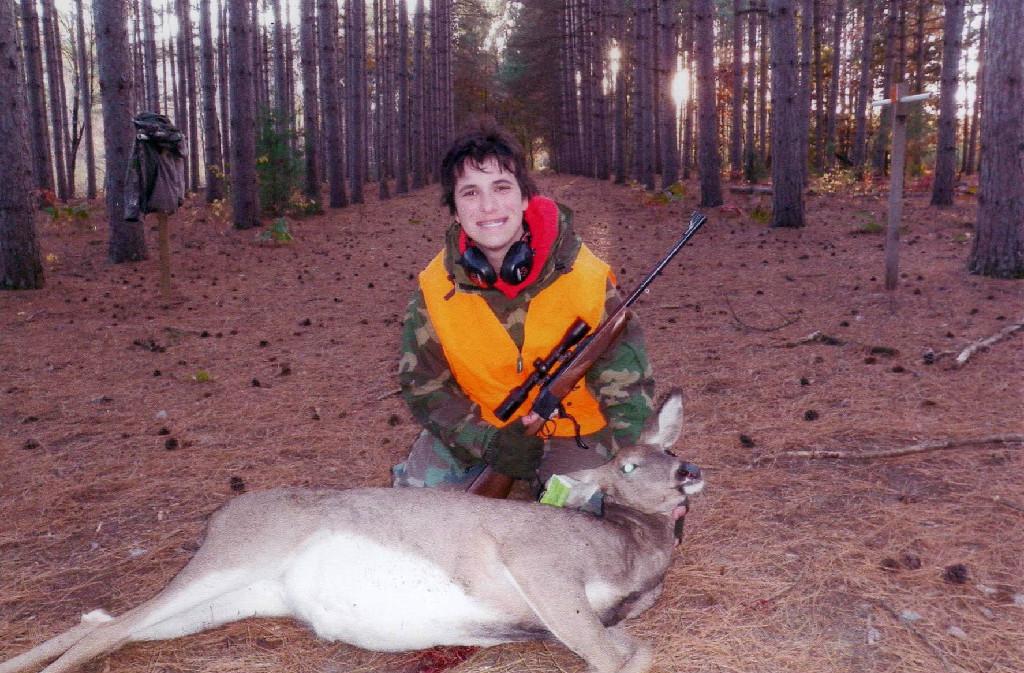 Kegan Rodgers with his deer, Youth Deer Hunt Oct 6-7, 2012