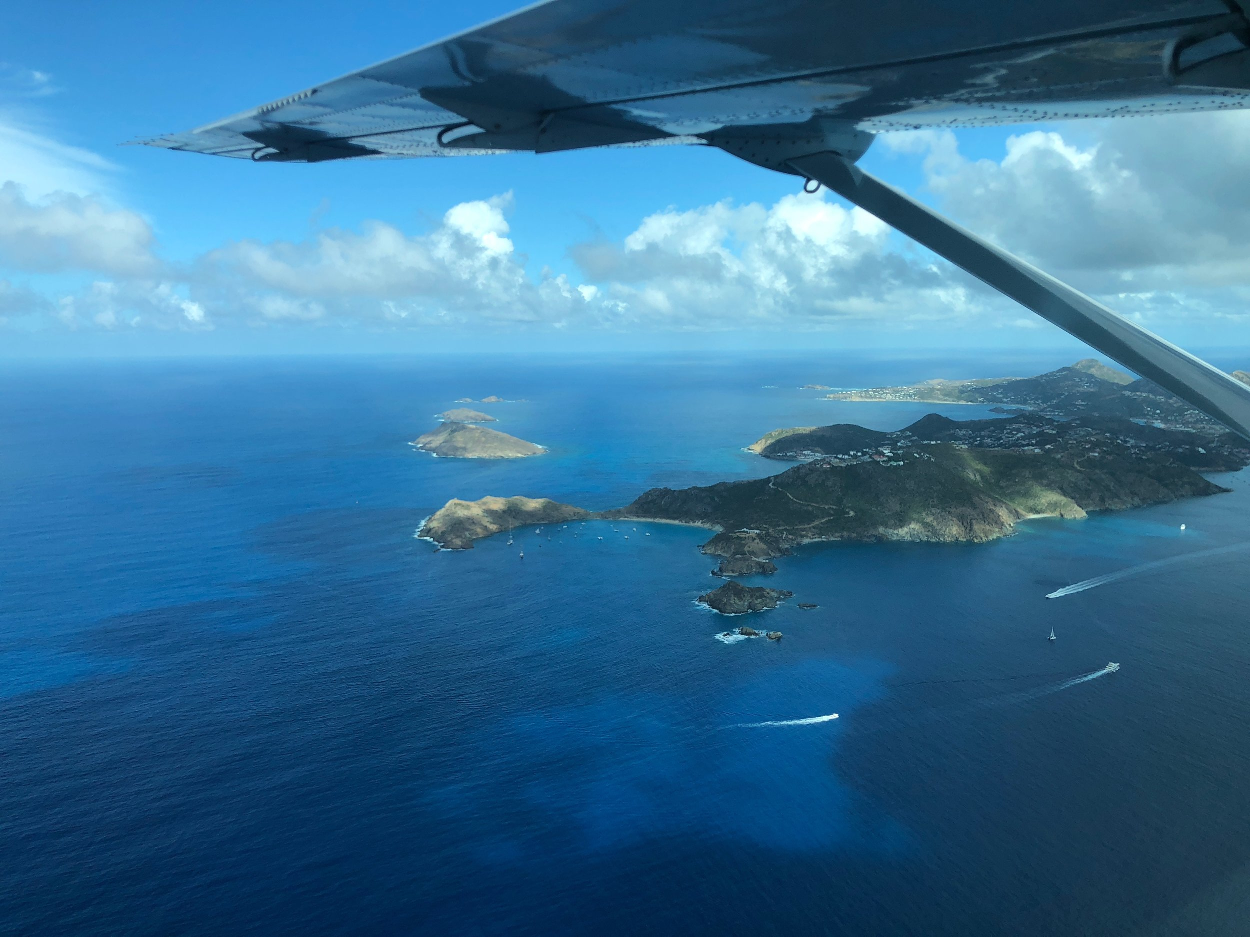 St. Bart's on approach from St. Martin