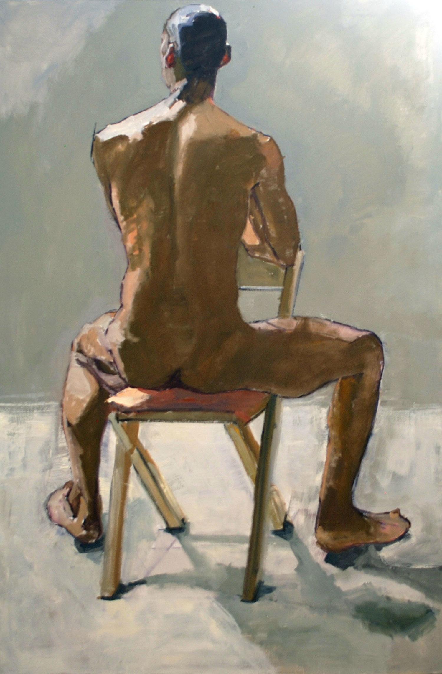 """Blane, Back Nude (Seated)"""