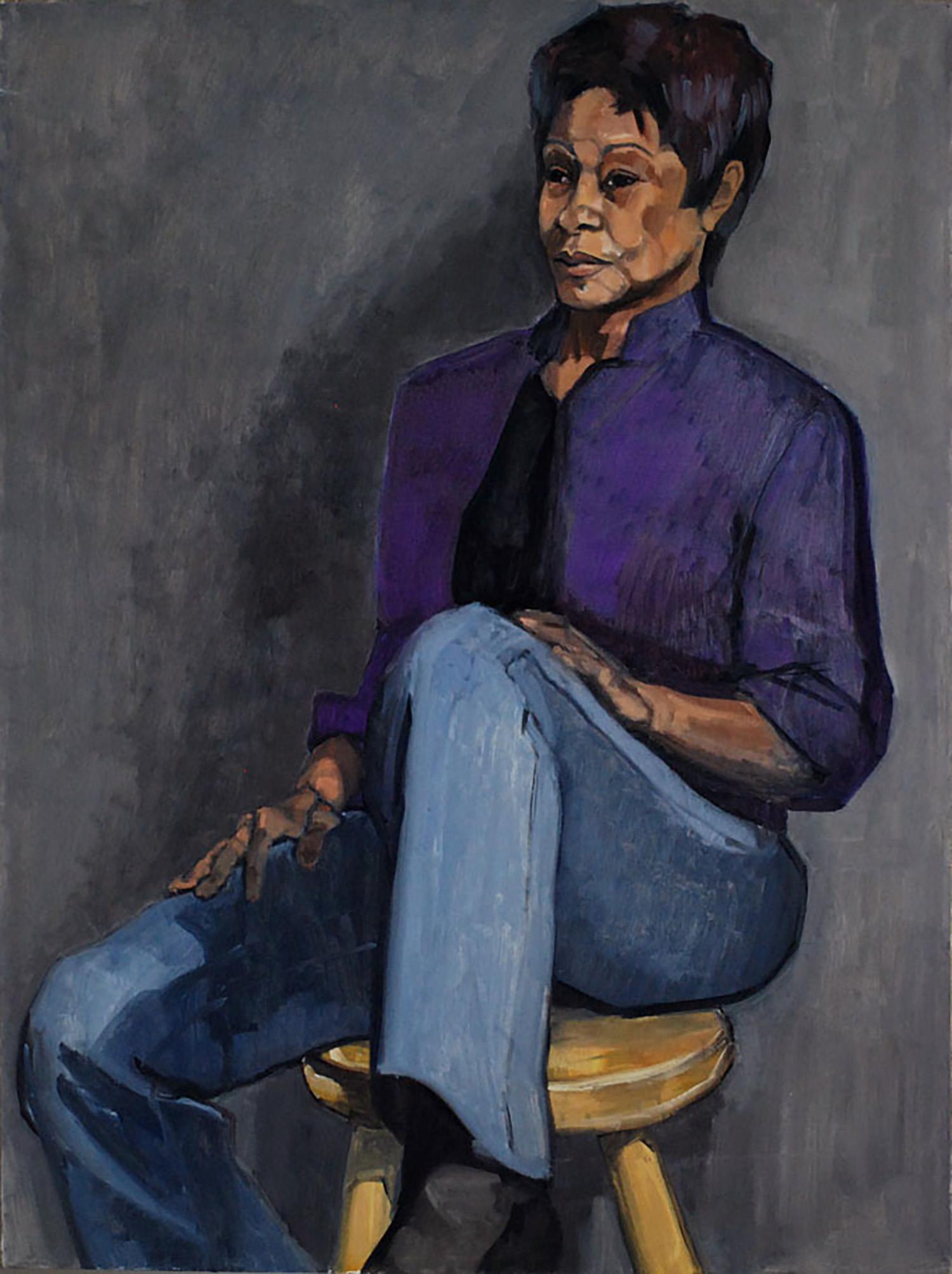"""""""Cynthia in Purple"""""""