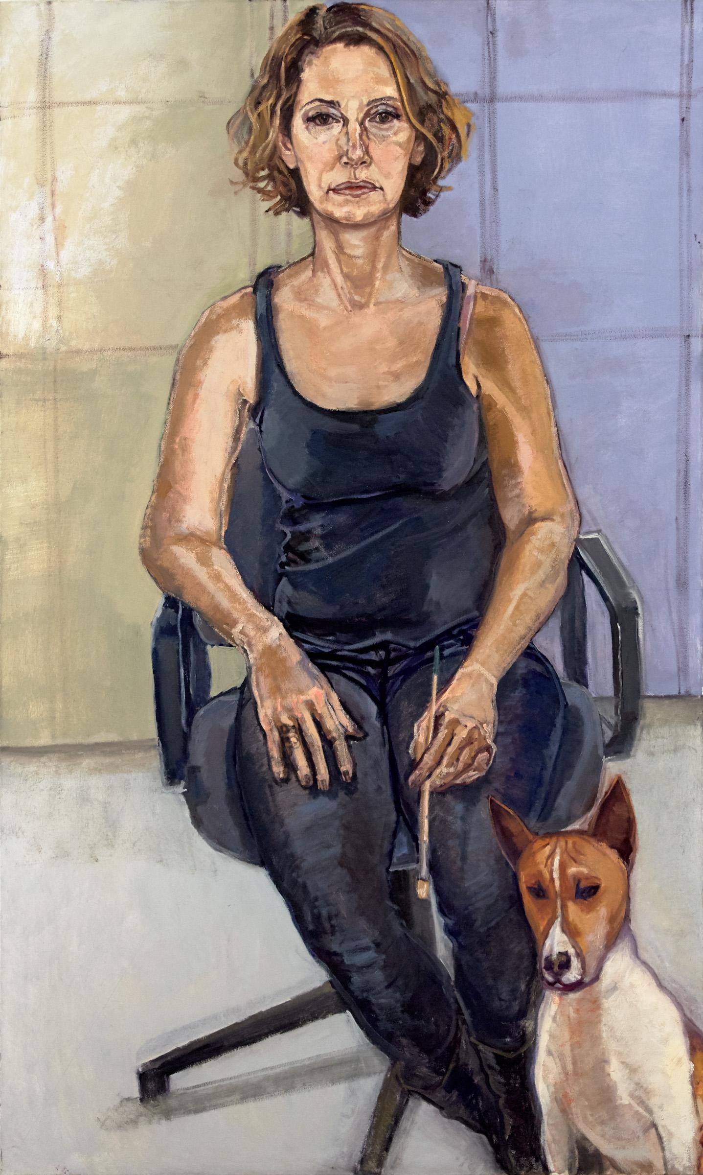 """Clarissa & Buddy (Self Portrait with Dog)"""