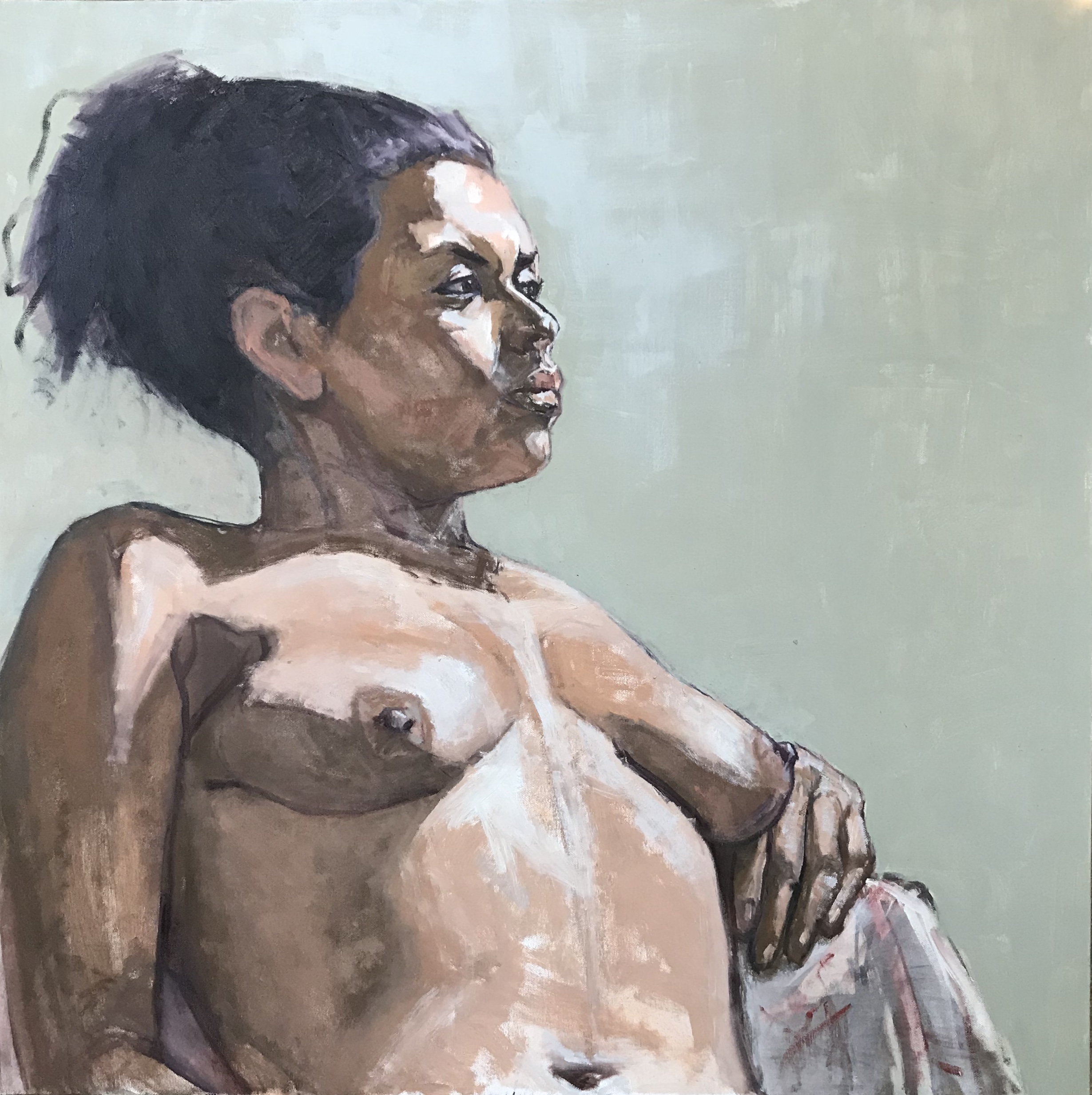 """Franceska Nude Leaning Back"""