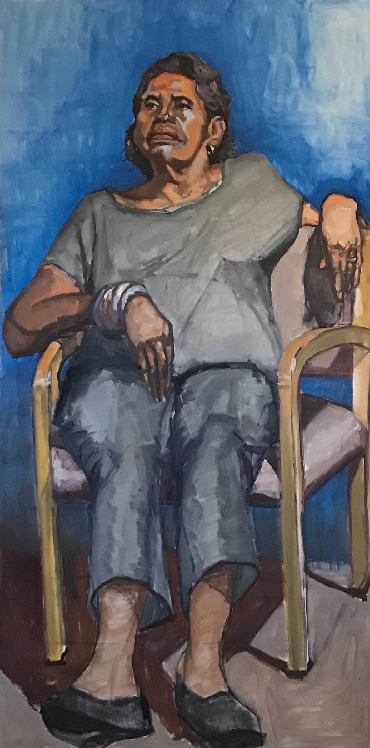 """Donna Seated in Blue"""