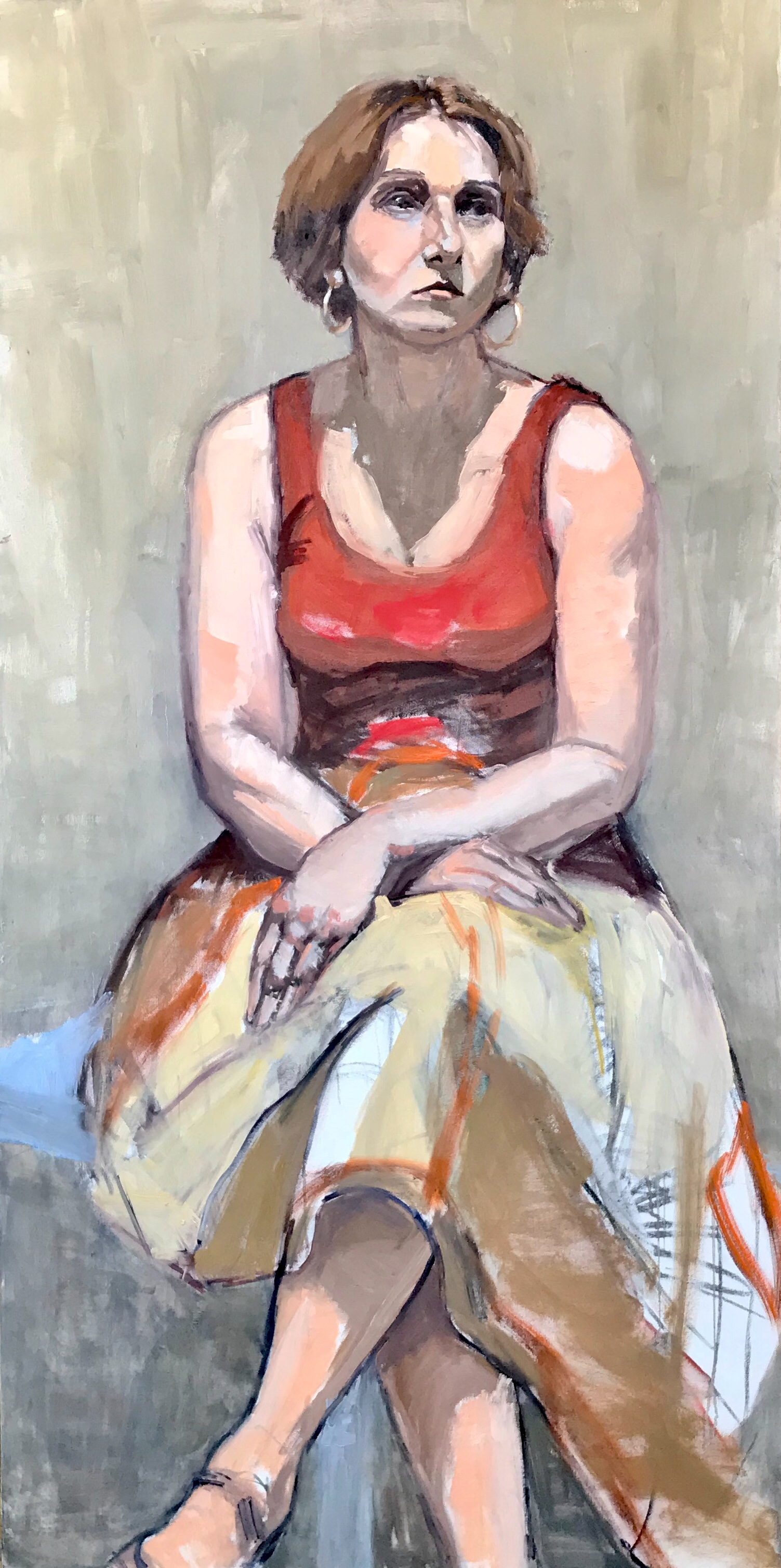 """Tara Seated in Red"""