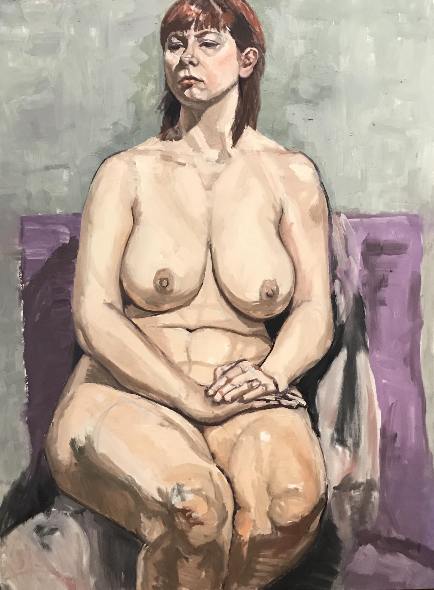 """""""Seated Nude on Purple"""""""