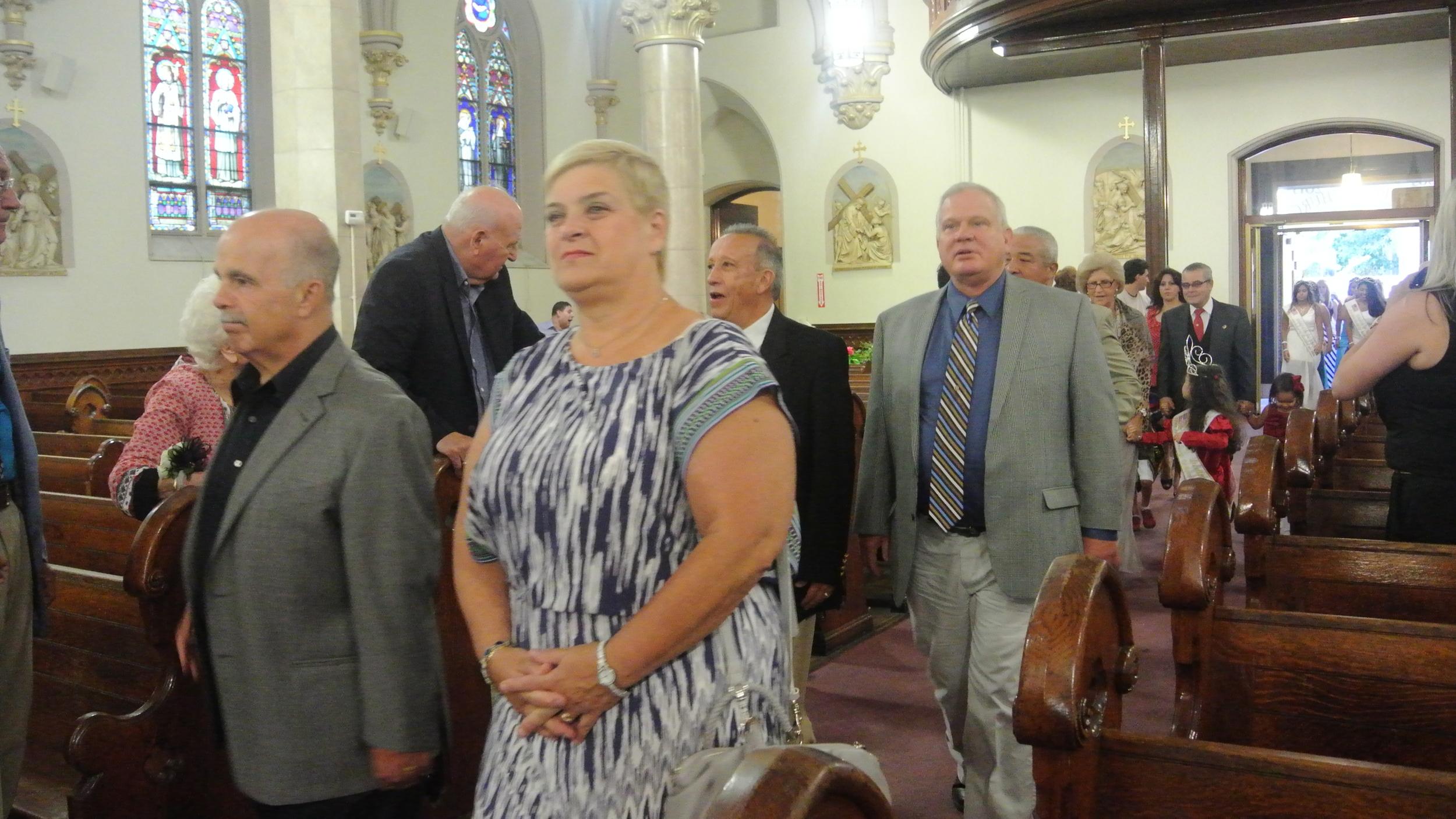 Councilman Laurence Bennett and Councilwoman Carol Mandaglio