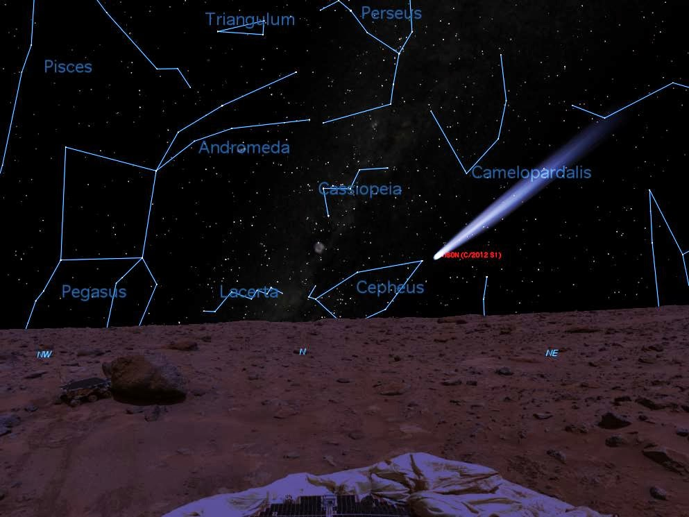View of ISON from Mars (rendered by Starry Night)