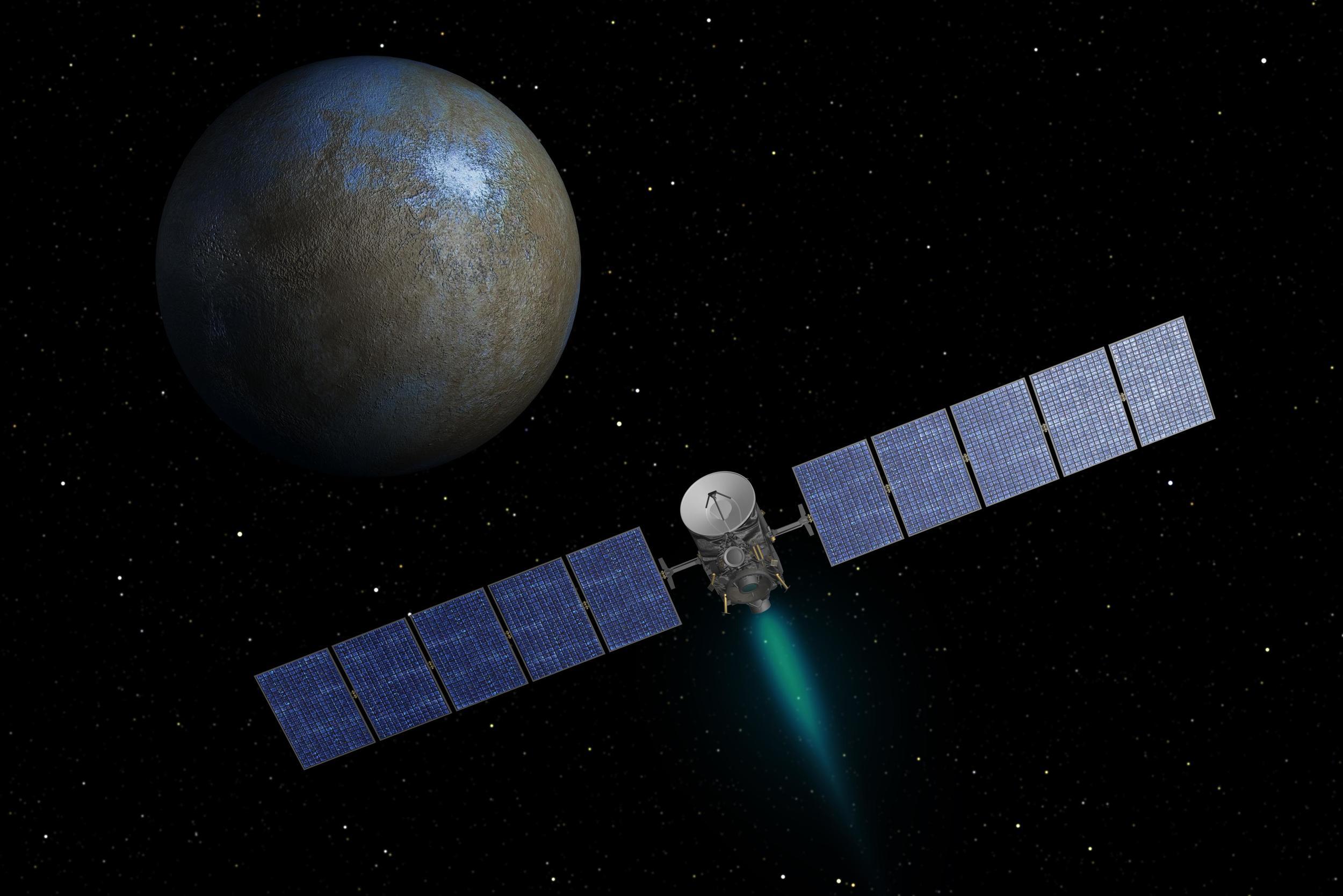 Dawn spacecraft at Ceres.
