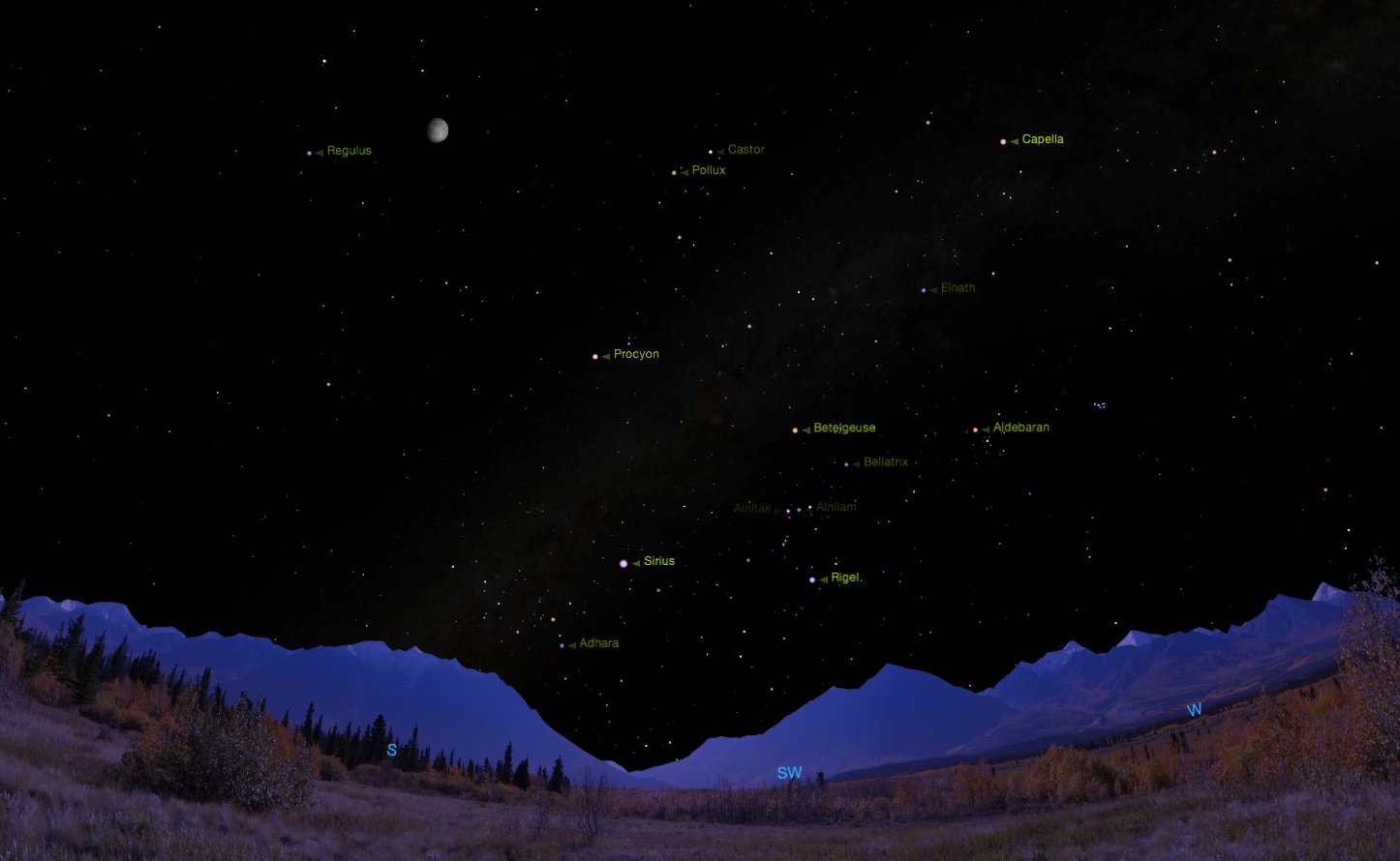 Common names.  Credit:    Starry Night     software .