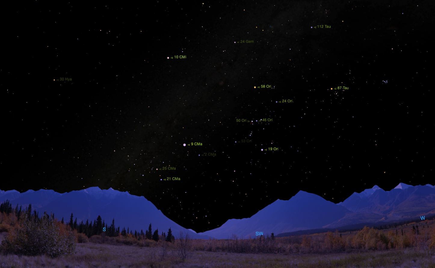 Flamsteed Names.  Credit:    Starry Night     software .