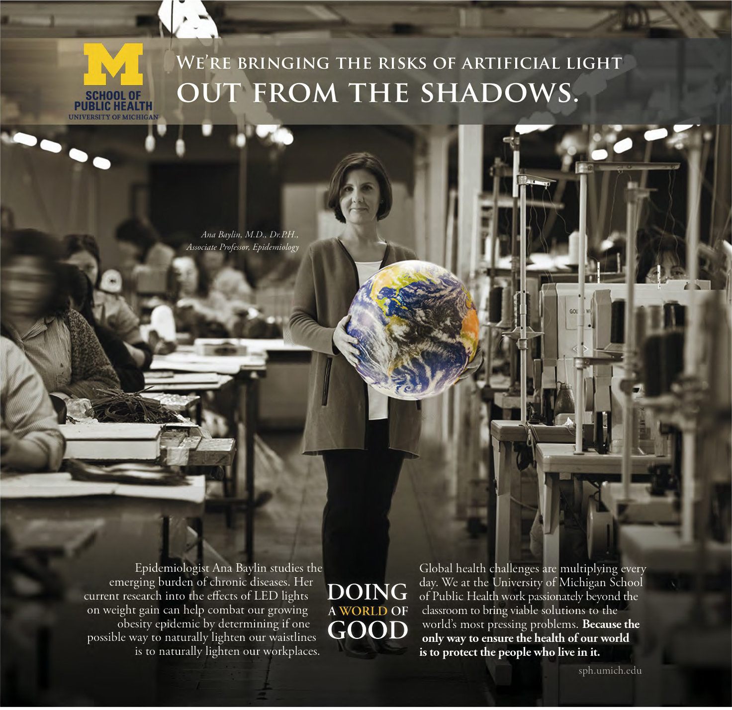 University of Michigan School of Public Health, Doing A World of Good Campaign
