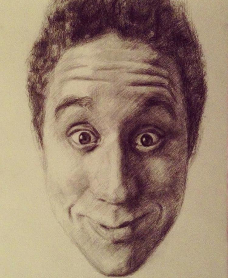 Self Portrait (2012), Graphite on paper