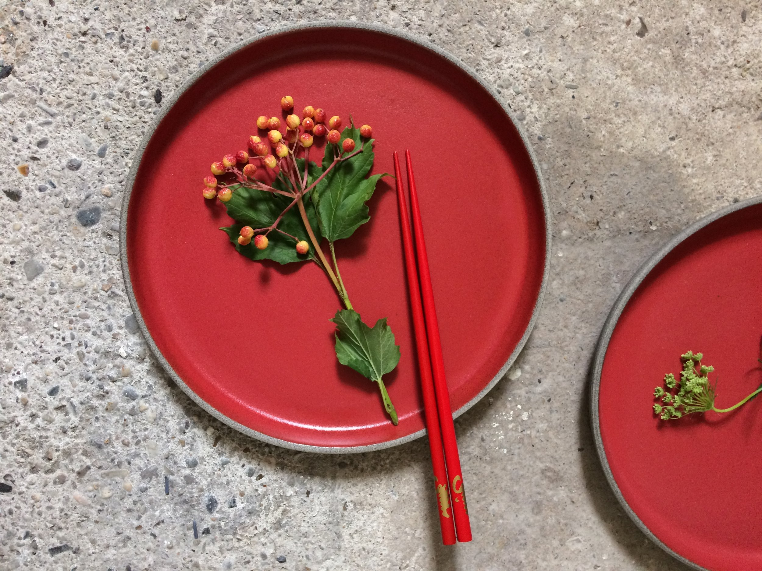 Chilli Red Collection - plates
