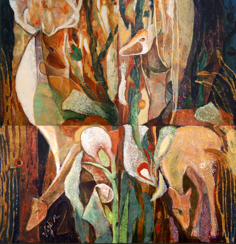 Deers in Forest - Quartet