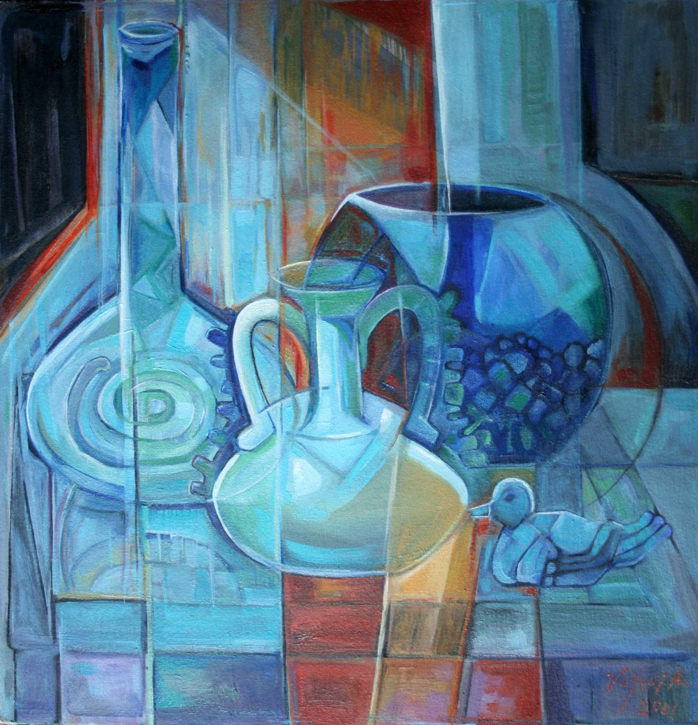 Vases in Blue